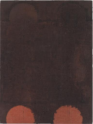 Red Wash (Bean Can), 2014  , acrylic and India ink on linen, 12 x 9 inches