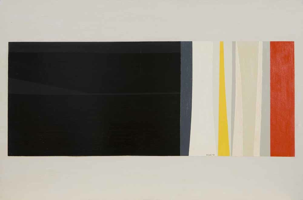 Untitled, 1953,  oil on masonite panel, 21 1/4 x 32 inches