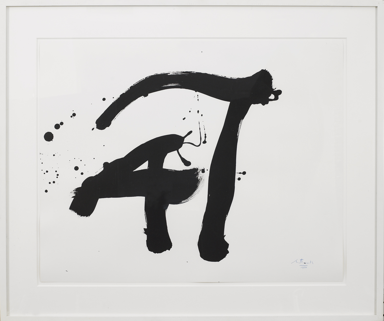 Robert Motherwell,  Untitled , 1987, synthetic polymer paint on strathmore paper, 23 x 29 inches