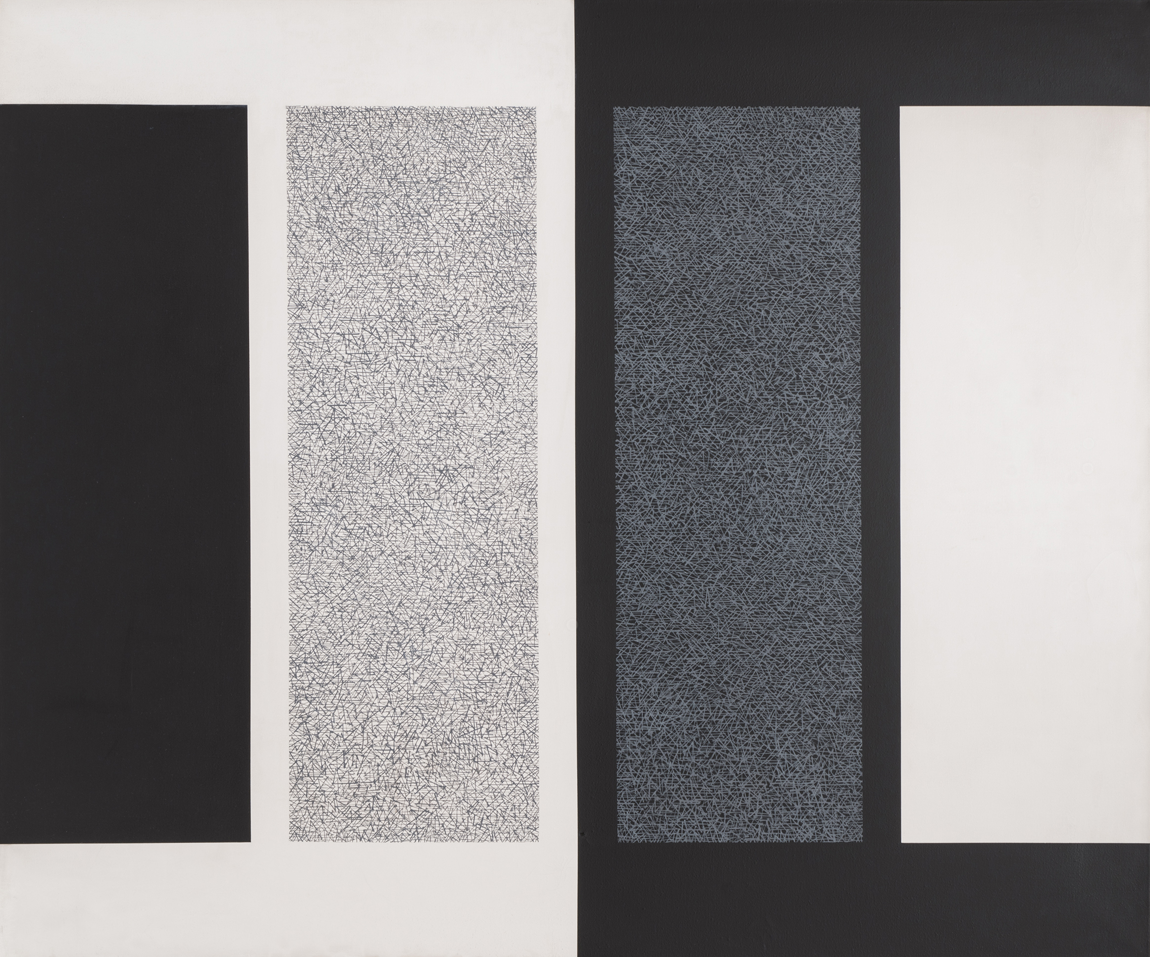 Homage to the Immaculates, 1965  , acrylic on canvas, 50 x 60 inches