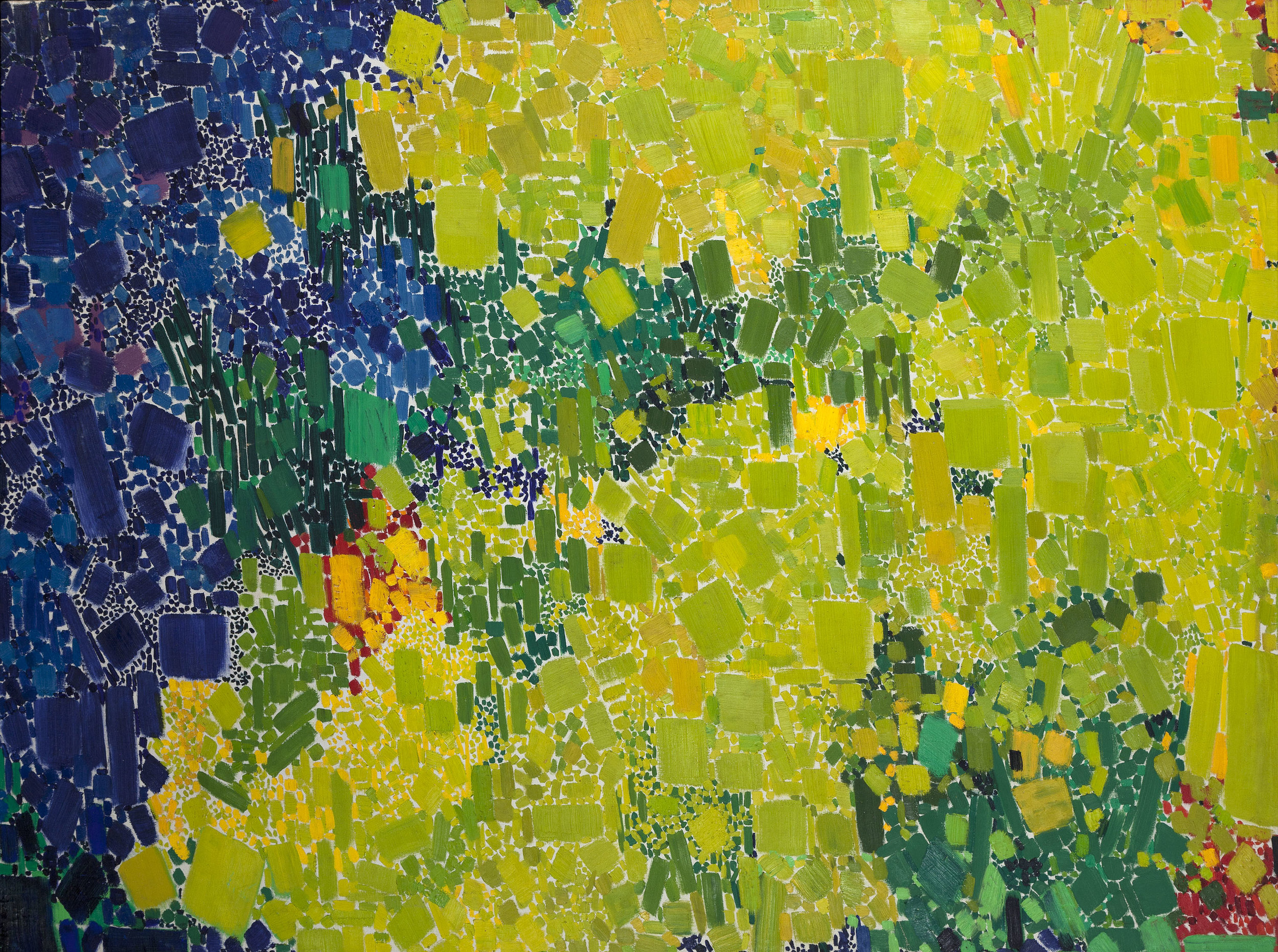 SOLD   Grass Symphony, 1962 , oil on canvas, 50 x 68 inches