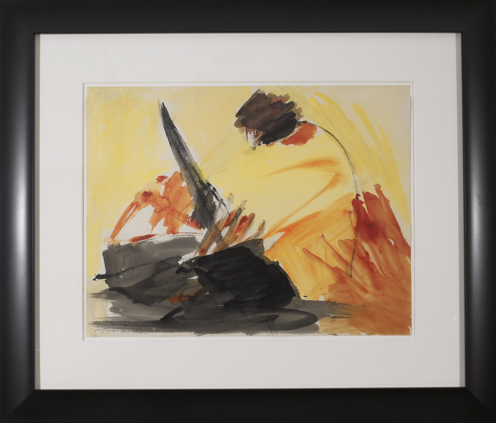 SOLD  Untitled, 1960  , ink and watercolor on paper, 19 3/4 x 25 1/2 inches