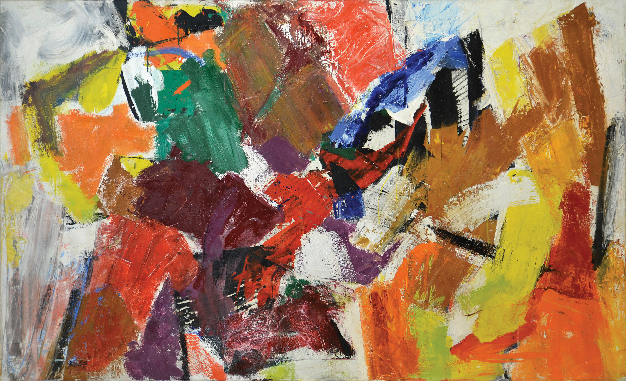 Resolution, 1957  , oil on canvas, 50 1/2 x 82 3/4 inches