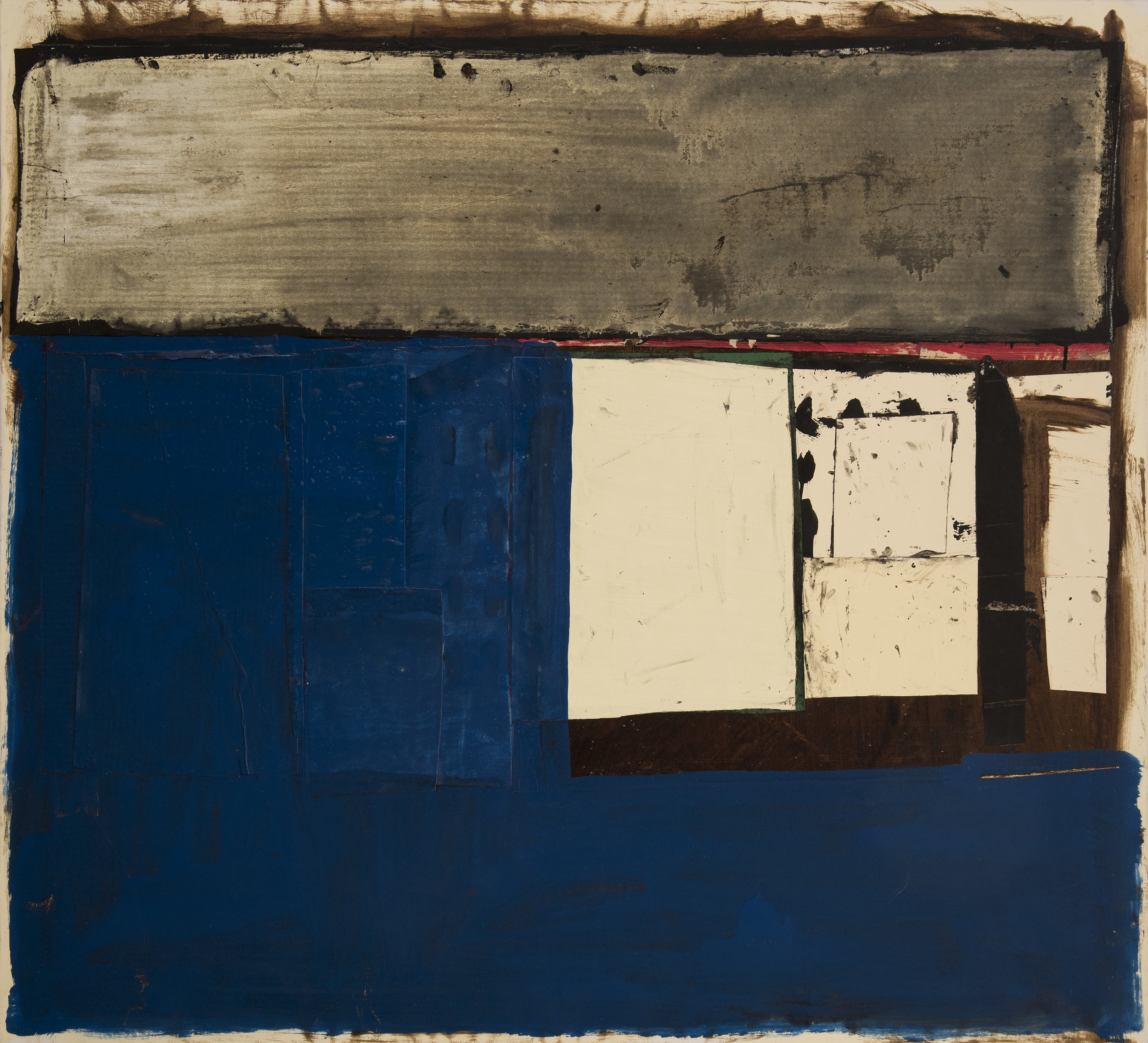 Conrad Marca-Relli ,  Untitled 1993 , mixed media collage on canvas, 48 x 53 inches