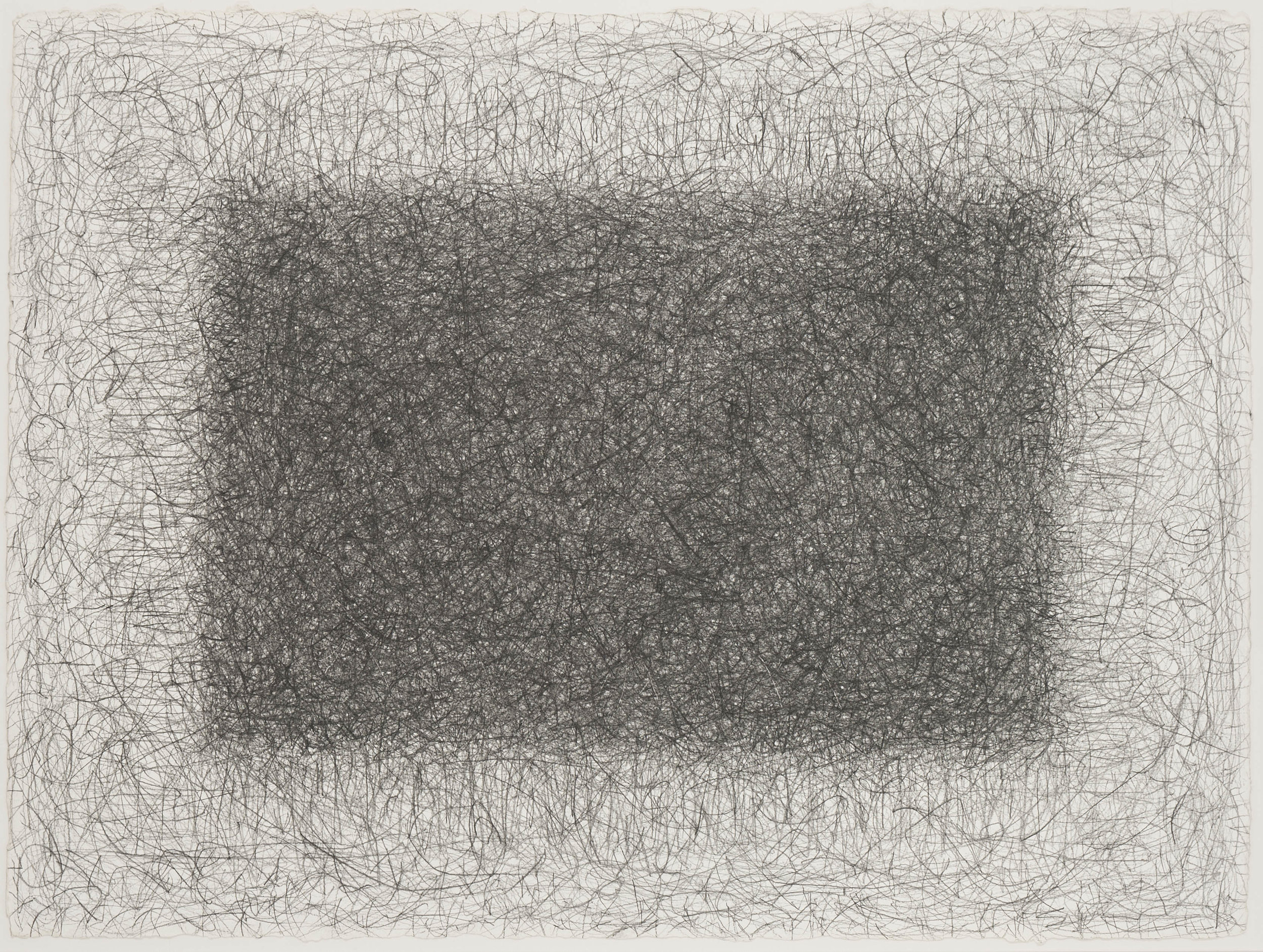Richard Pousette-Dart ,  Untitled 1977 , graphite on heavy Arches paper, 22 1/2 x 30 3/8 inches