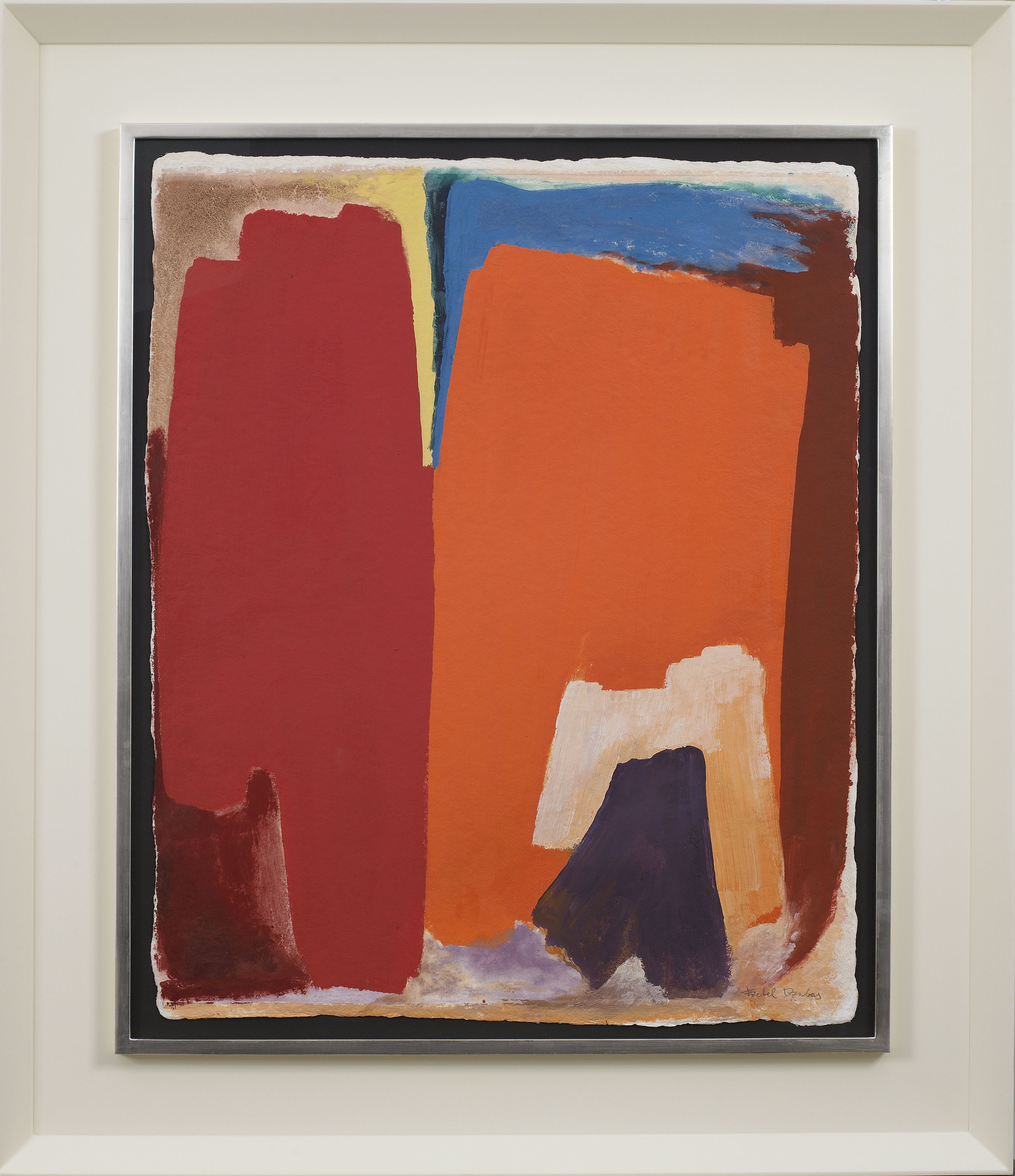 Friedel Dzubas  , Untitled, 1979 , acrylic on handmade paper, 30 1/2 x 24 3/4 inches