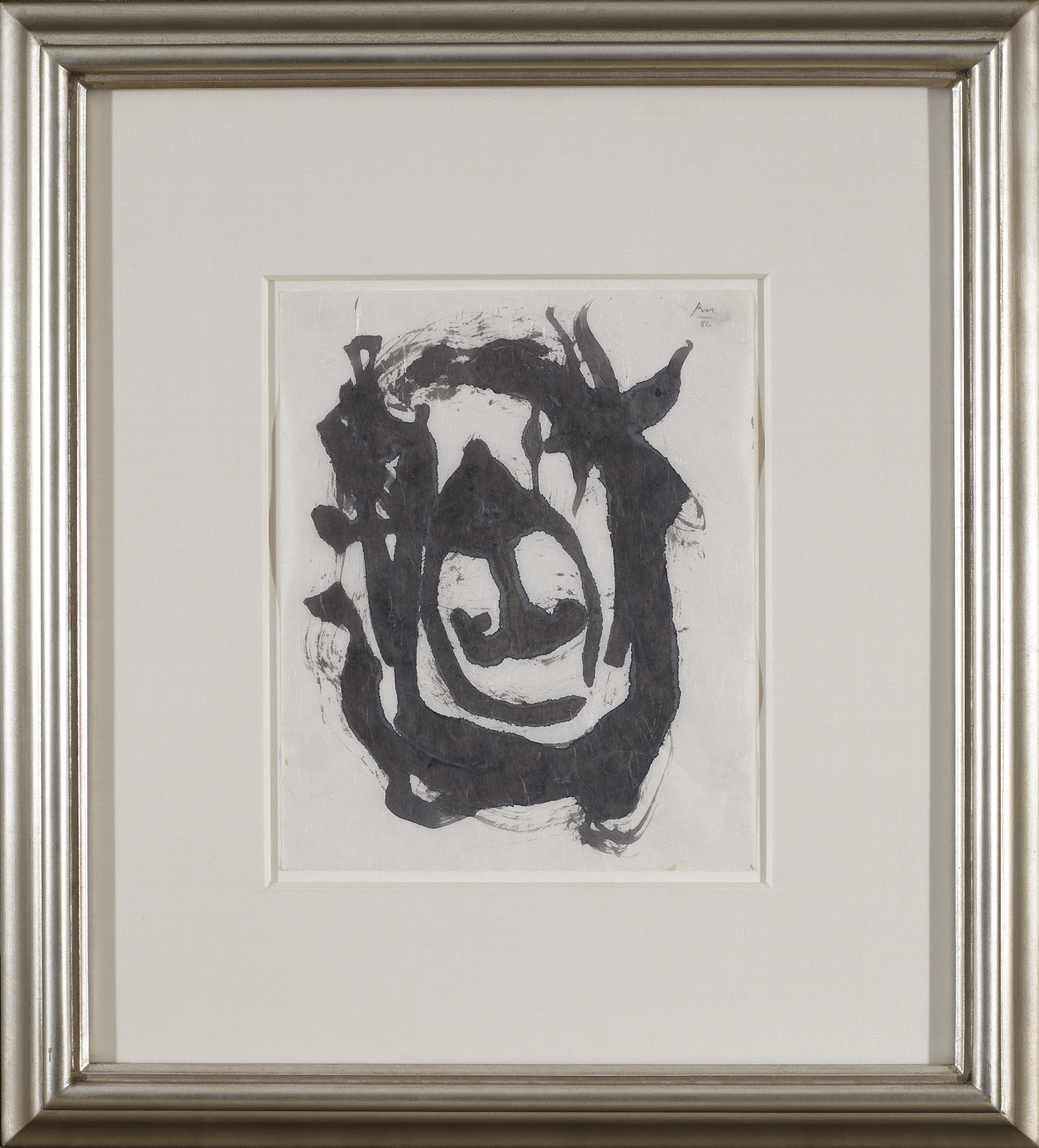 SOLD  Untitled, 1986  , black and Sepia ink on rice paper, 11 x 9 inches