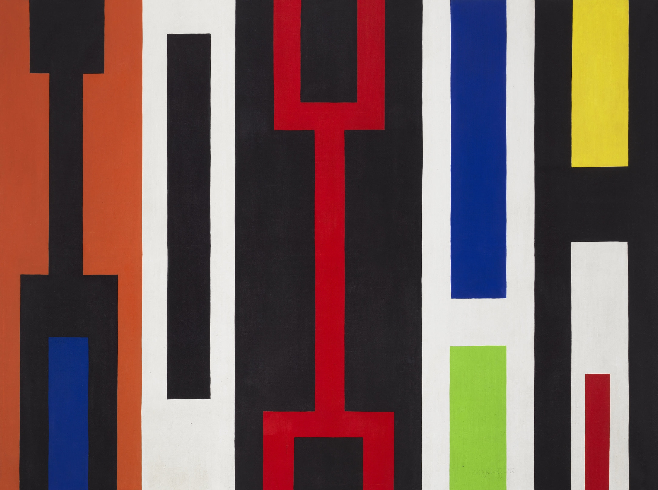 Angelo Testa ,  #267 Geometric Abstraction , 1967, oil on canvas, 80 3/8 x 107 5/8 inches