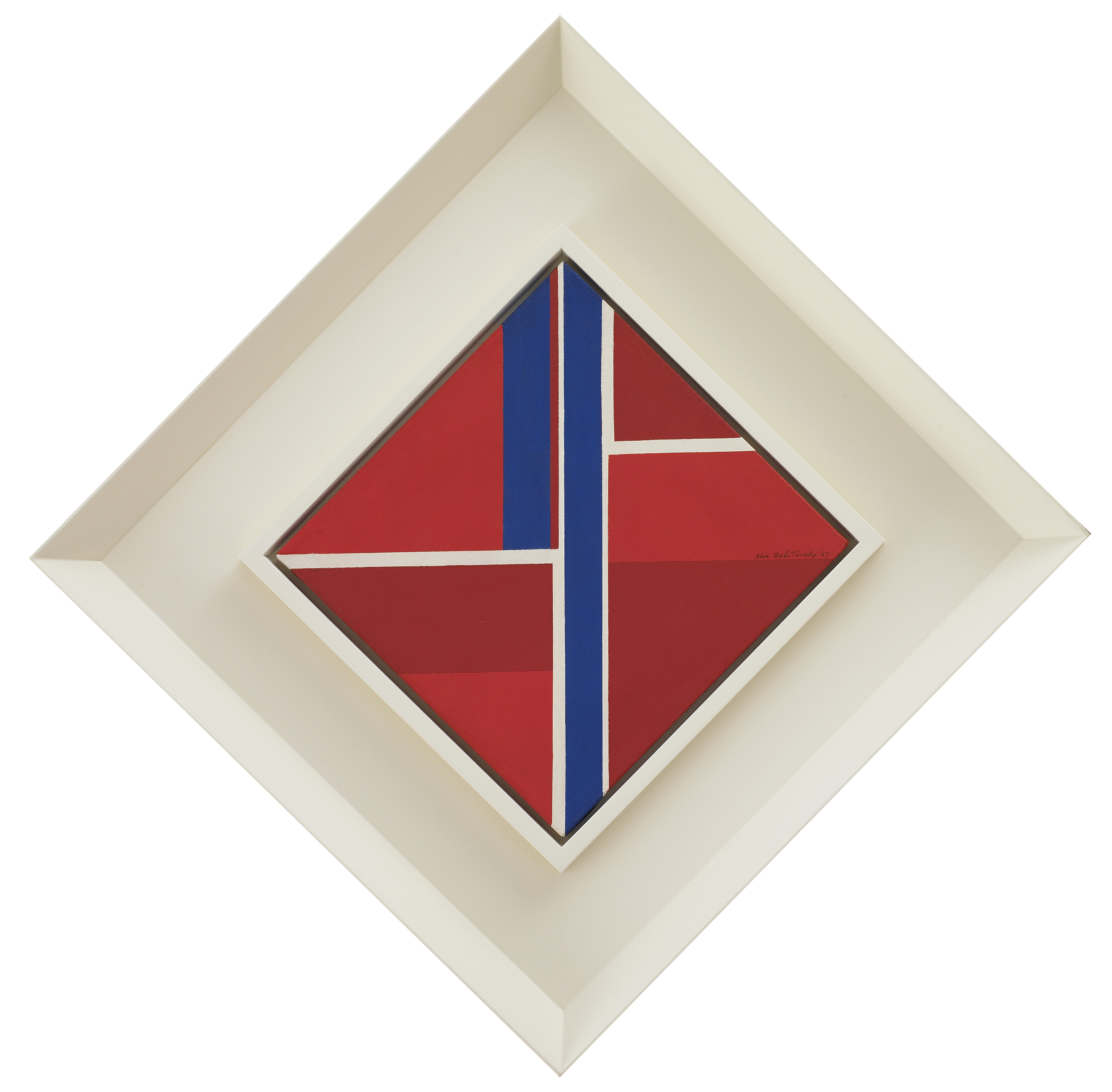 SOLD  Untitled ,  1967, oil on canvas, 12 x 12 inches