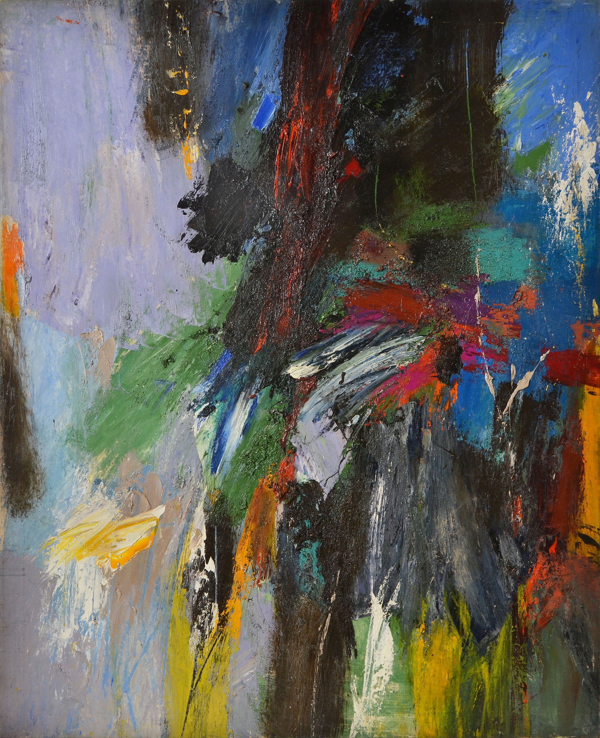 Untitled   ,  oil on canvas, c. 1950s, 49 x 40 inches