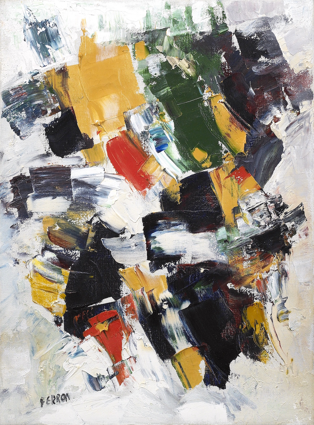 Untitled, 1961,   Oil on canvas, 21 1/4 x 15 3/4 inches