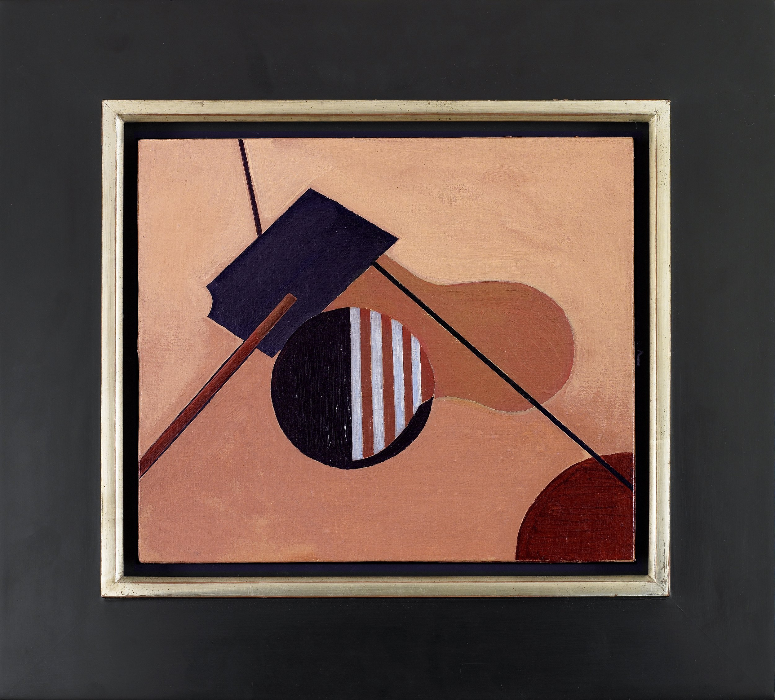 Composition,   Oil on canvasboard, 1939, 10 x 11 ½ inches