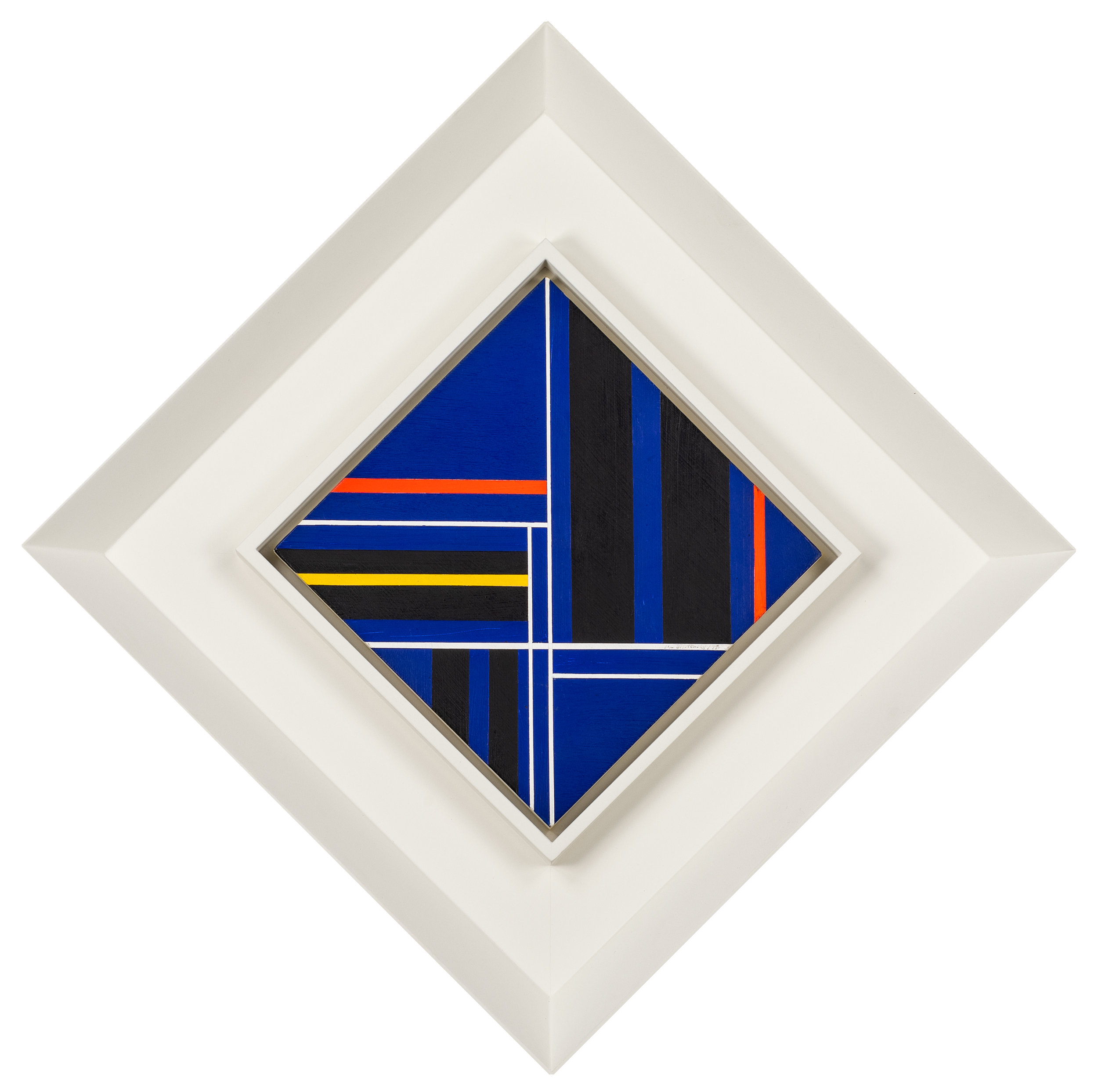 SOLD  Deep Blue Diamond,   Acrylic on panel, 1979, 12 x 12 inches