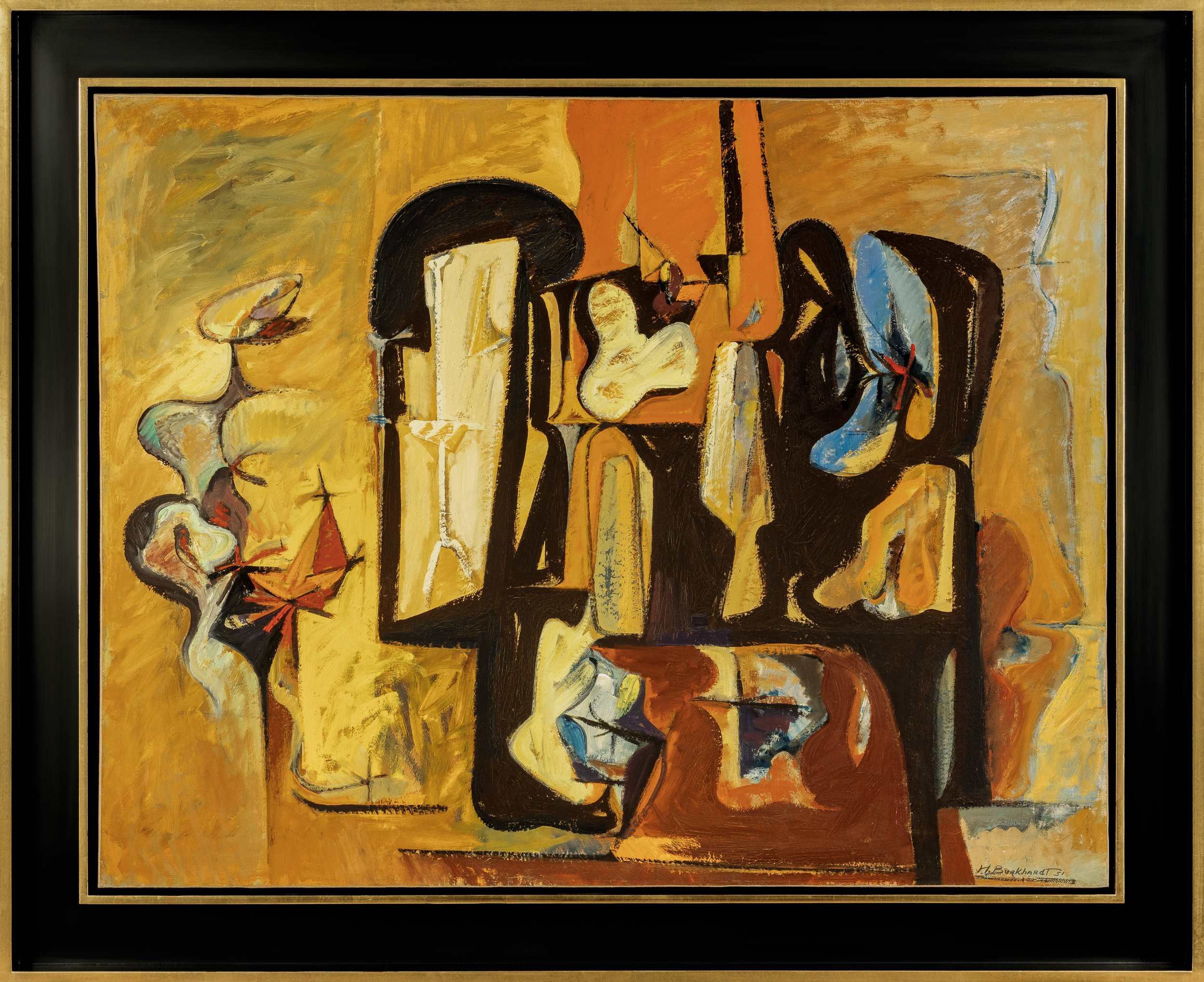 SOLD  Interior,   Oil on canvas, 1951, 35 x 45 inches