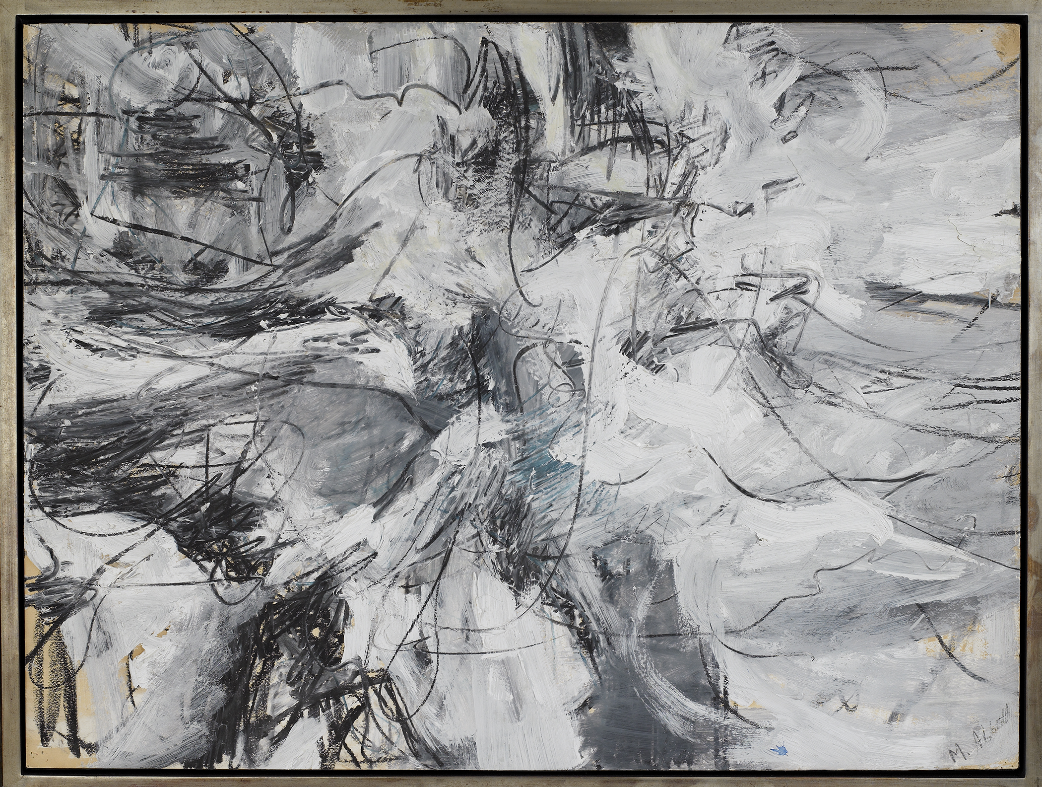 SOLD  Untitled, 1950-51,   Oil and oil stick on paper, 30 x 40 inches