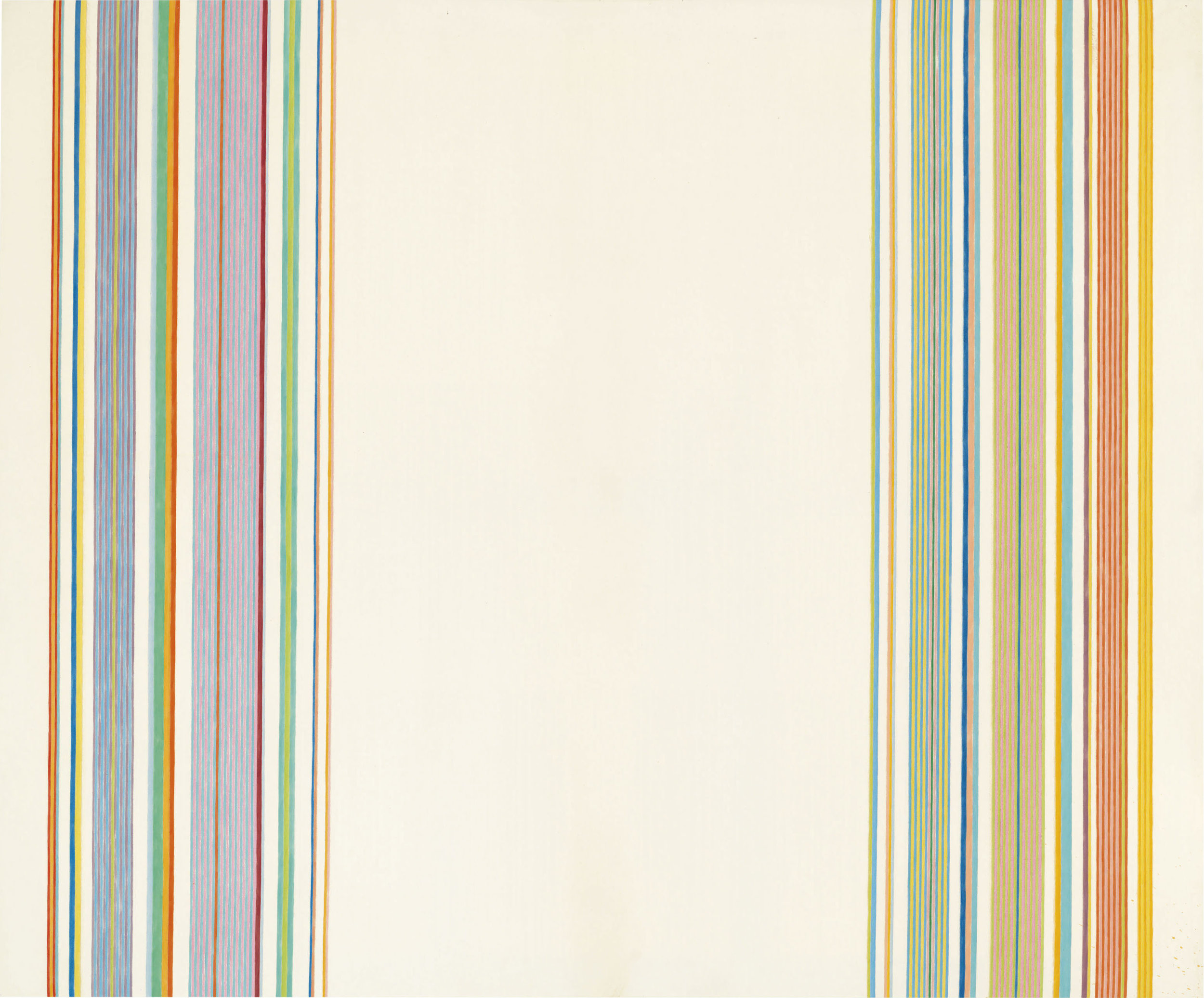 Sweet Hopscotch,  1960, Acrylic on canvas, 91 3/5 x 110 3/4 inches