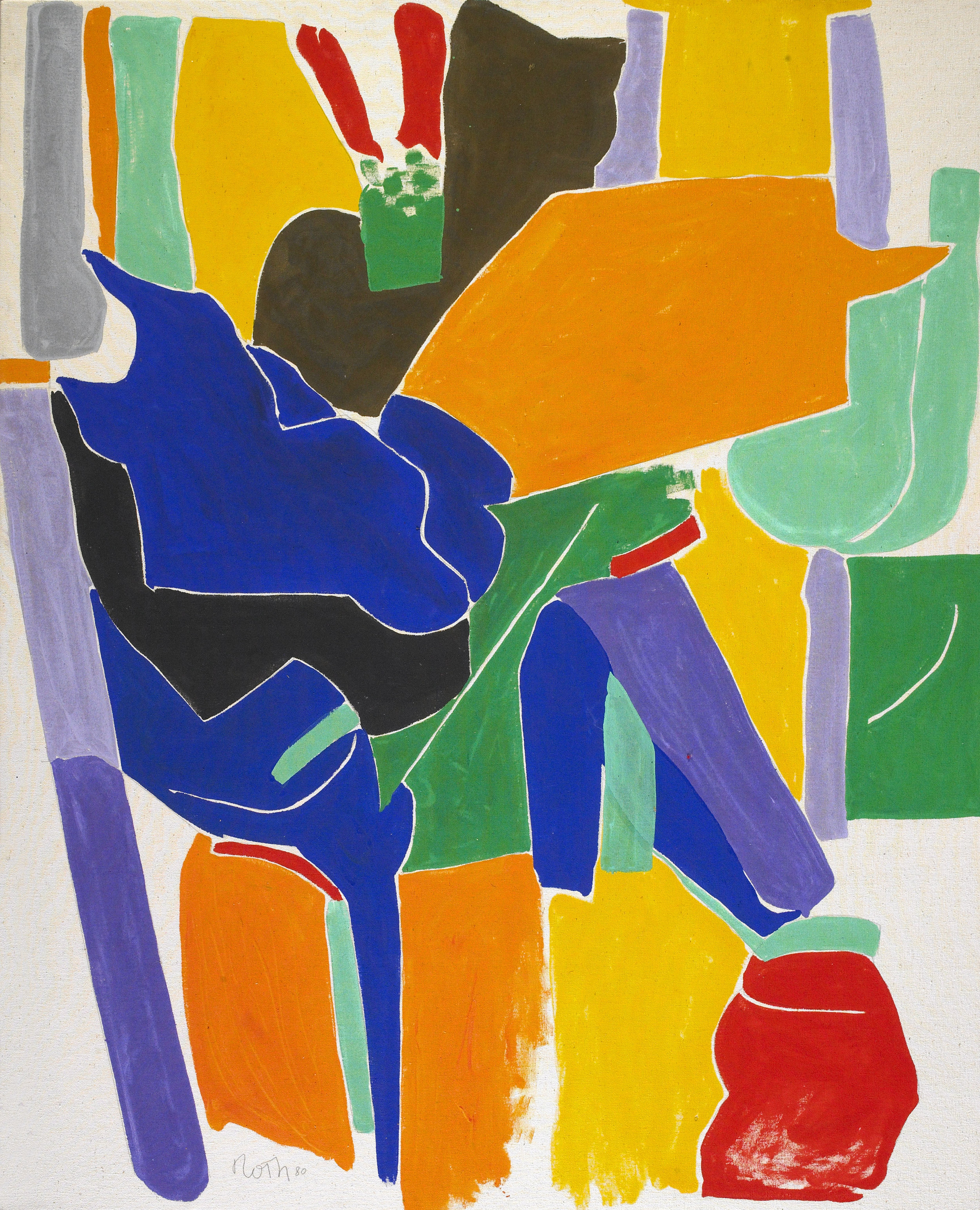 Rope Dancer,  1980, Acrylic on canvas, 54 1/2 x 45 inches