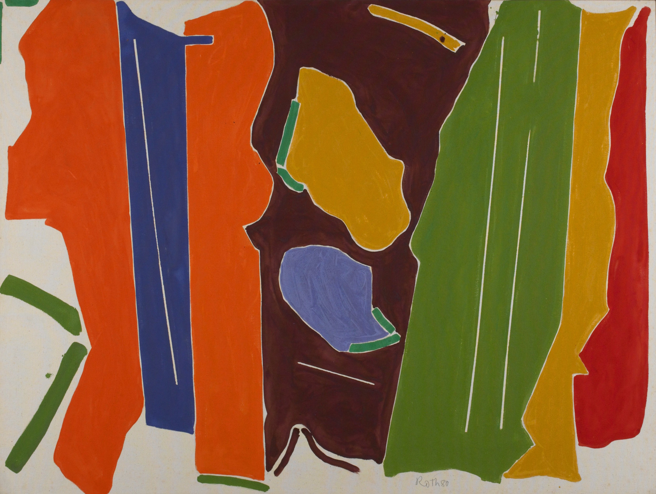 Rope Dancer #10 , 1980, Acrylic on canvas, 50 x 67 inches