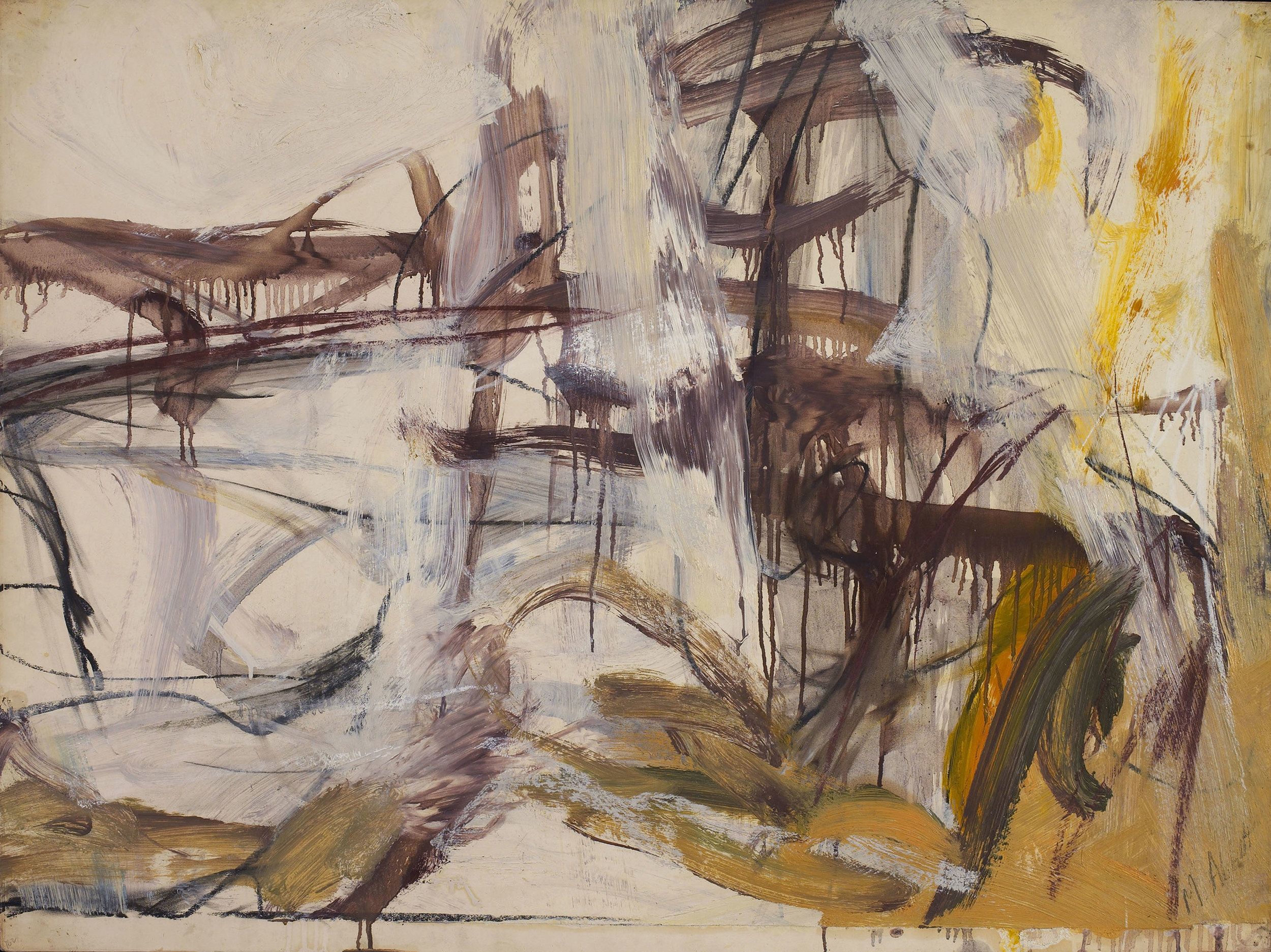 SOLD  Untitled, 1950-51  , oil, charcoal and pastel on paper, 30 x 40 inches
