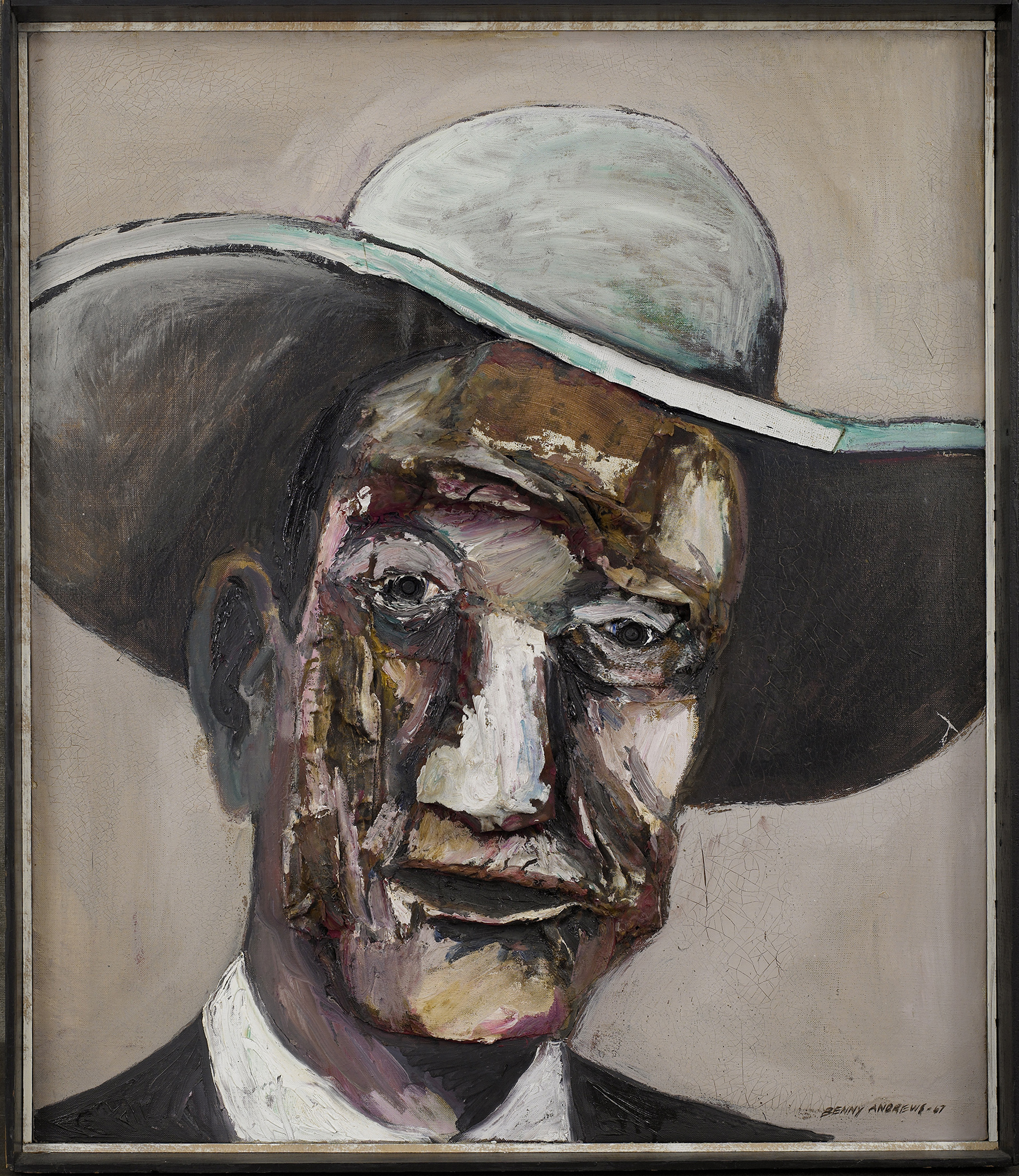 SOLD  Mr. America  , 1967, oil on canvas, 28 x 24 inches