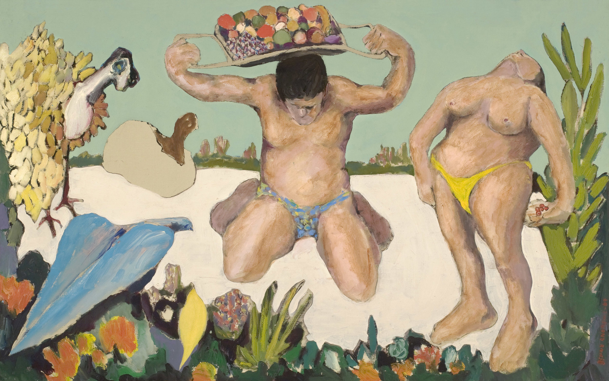 The Offering  , 1964, oil on canvas, 24 1/2 x 38 1/2 inches
