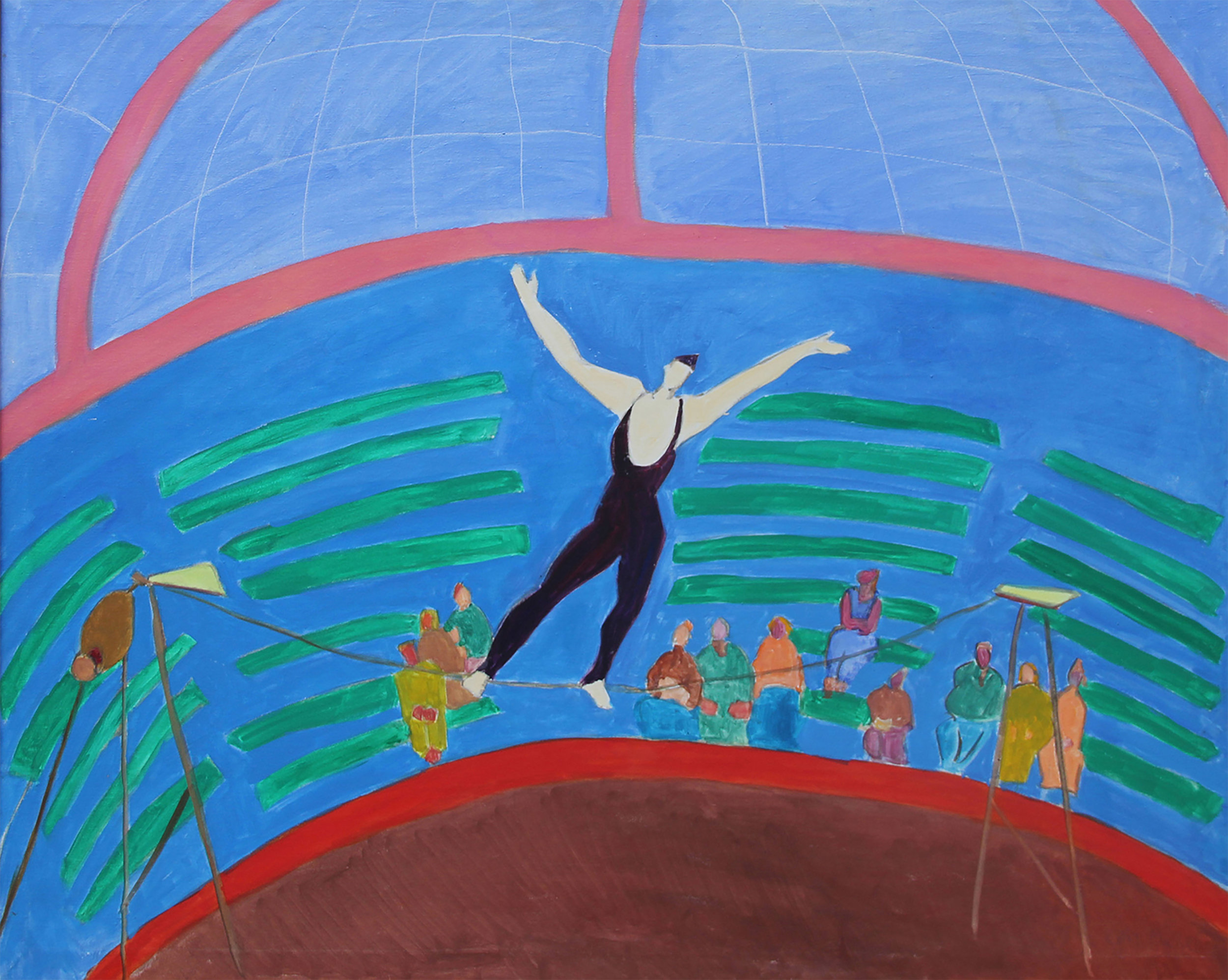 SOLD  Tightrope Walker, 1982  , oil on canvas, 40 x 50 inches