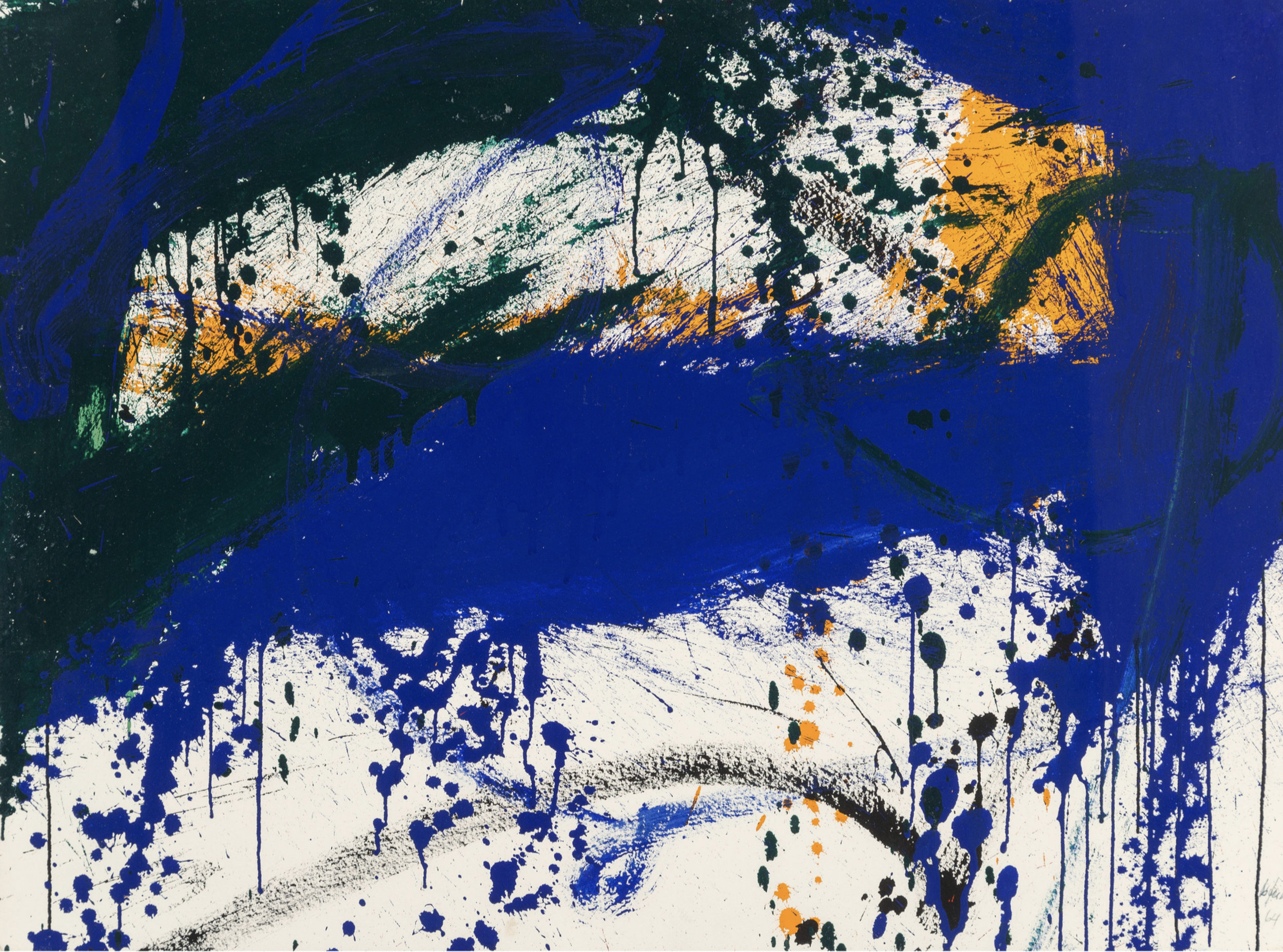 Sweet Sue   ,  Ink and acrylic on Arches paper, 1964, 22 3/8 x 30 3/8 inches