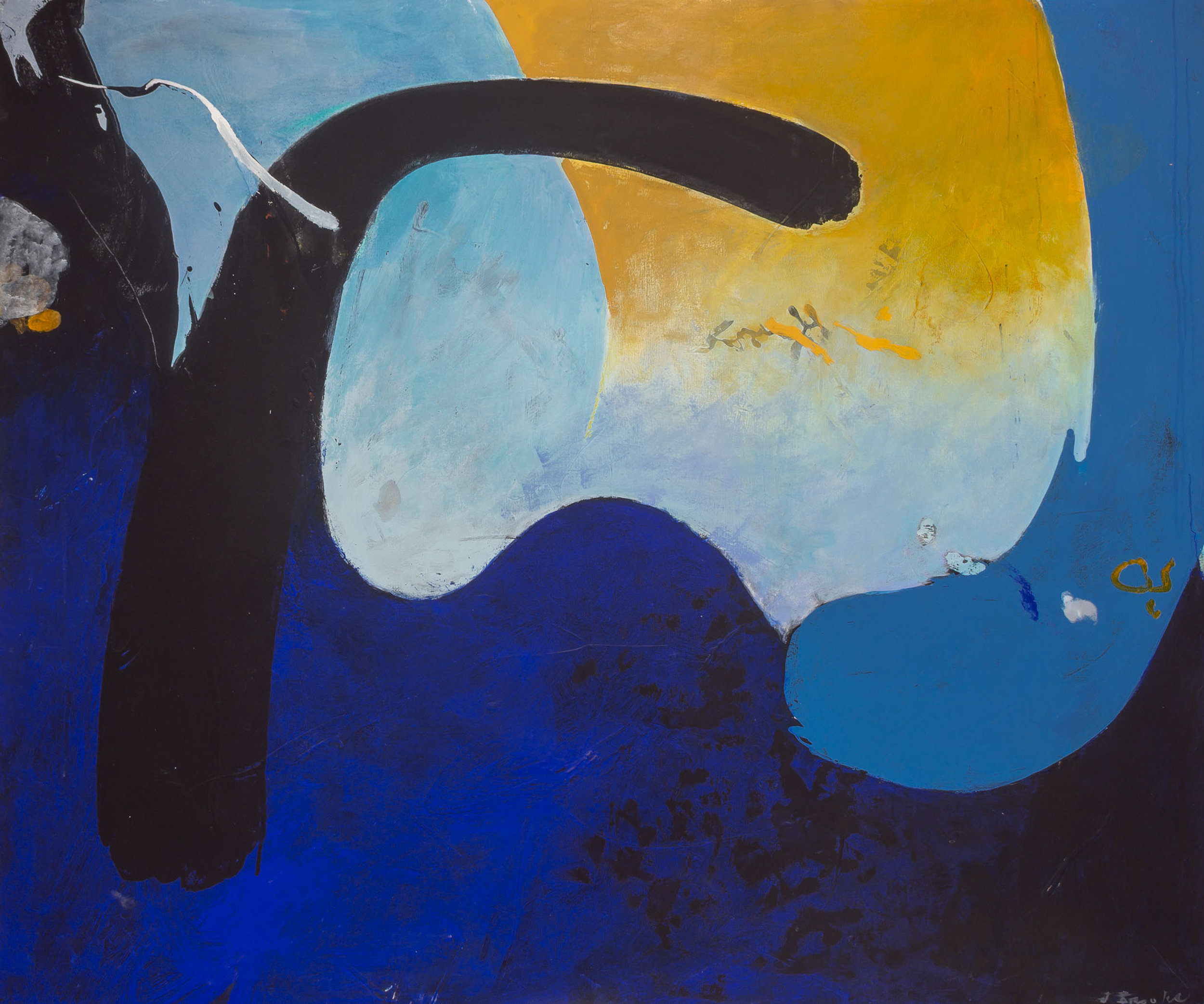 SOLD  Xenophon  , Acrylic on canvas, 1970, 60 x 72 inches