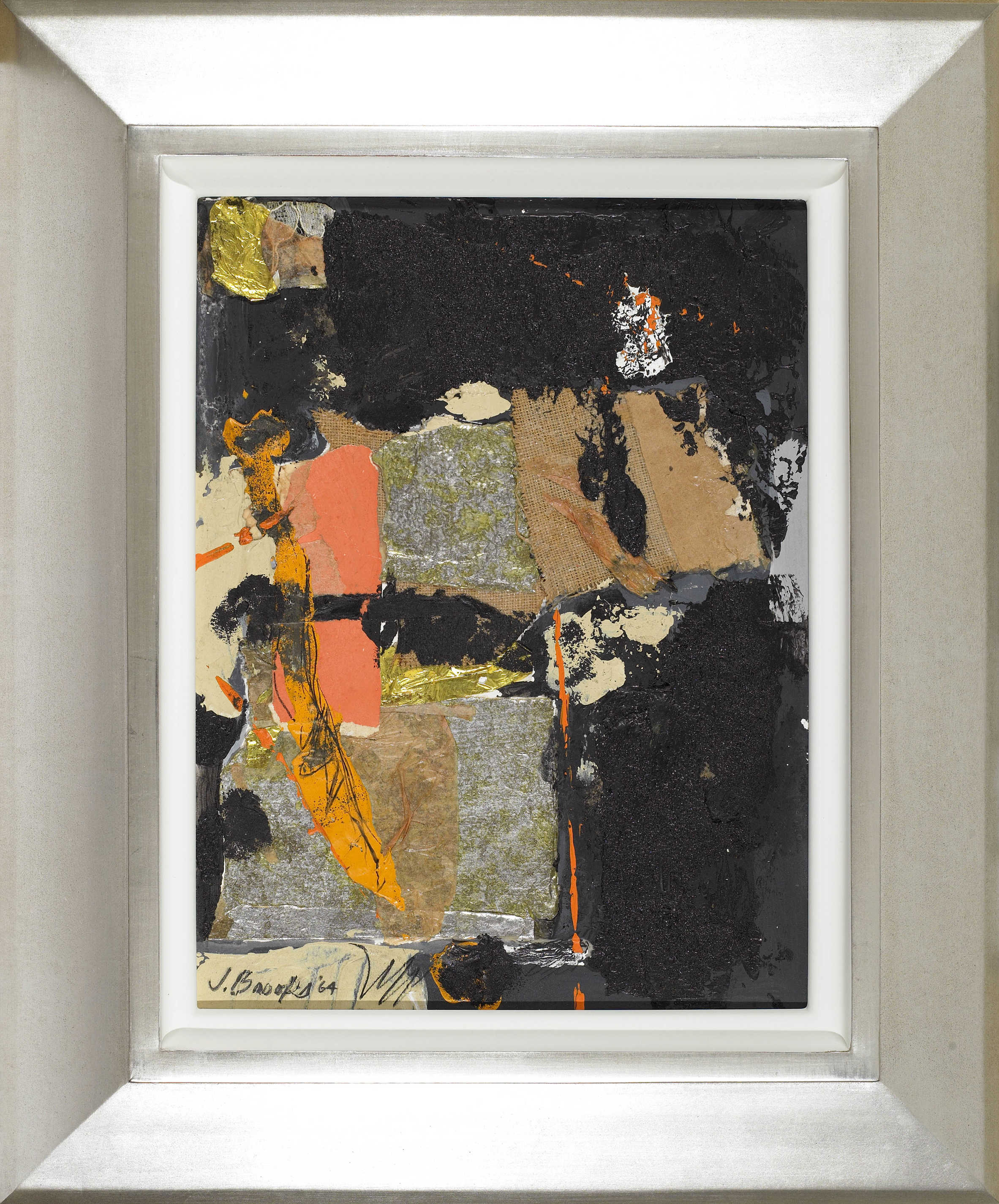 SOLD   Untitled, 1964,  mixed media, 13 1/2 x 10 inches
