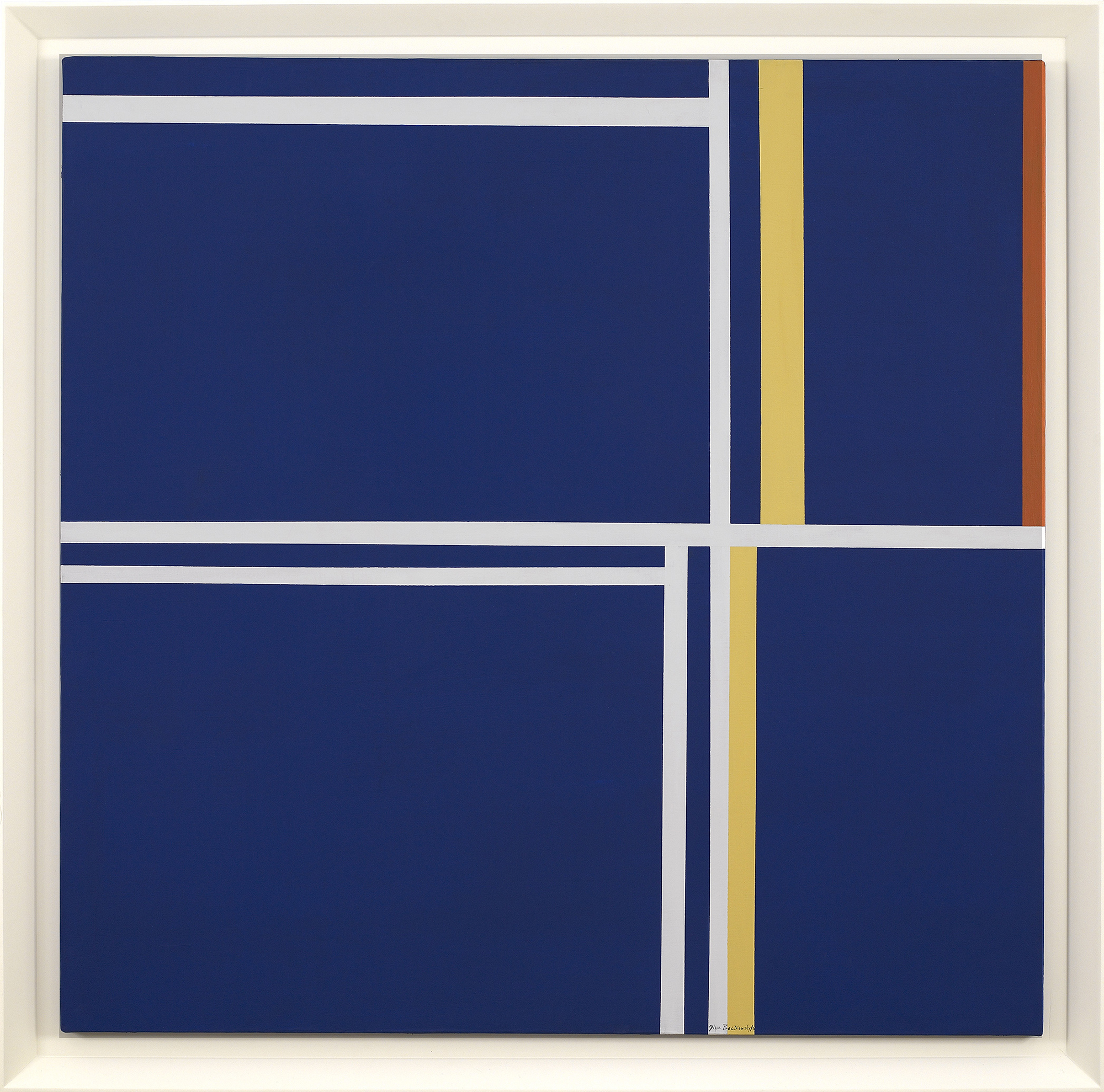 SOLD  Abstraction in Square, 1978  , oil on canvas, 40 x 40 inches