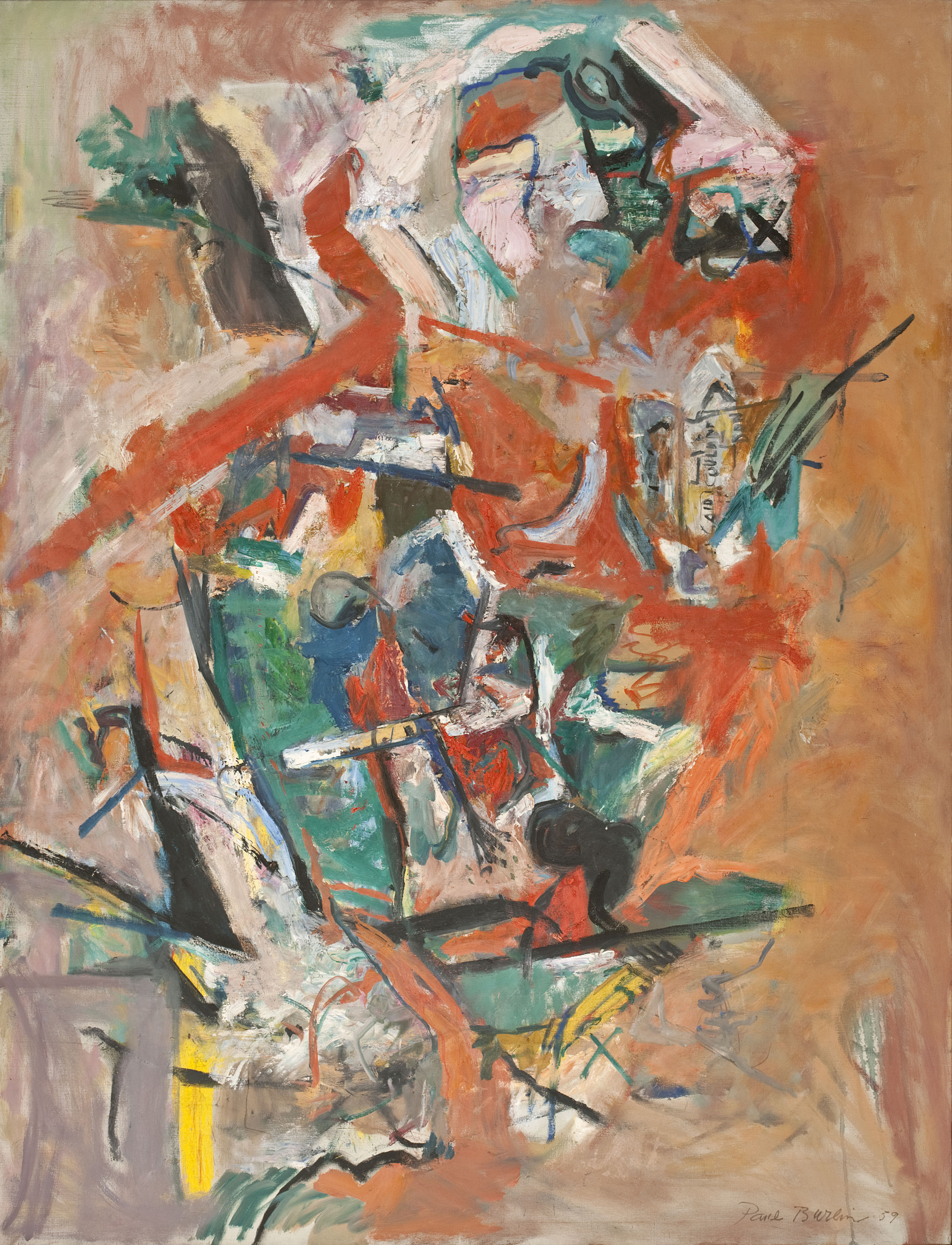 Said Couldn't Be Done, 1959  , oil on canvas, 1959, 84 x 66 inches