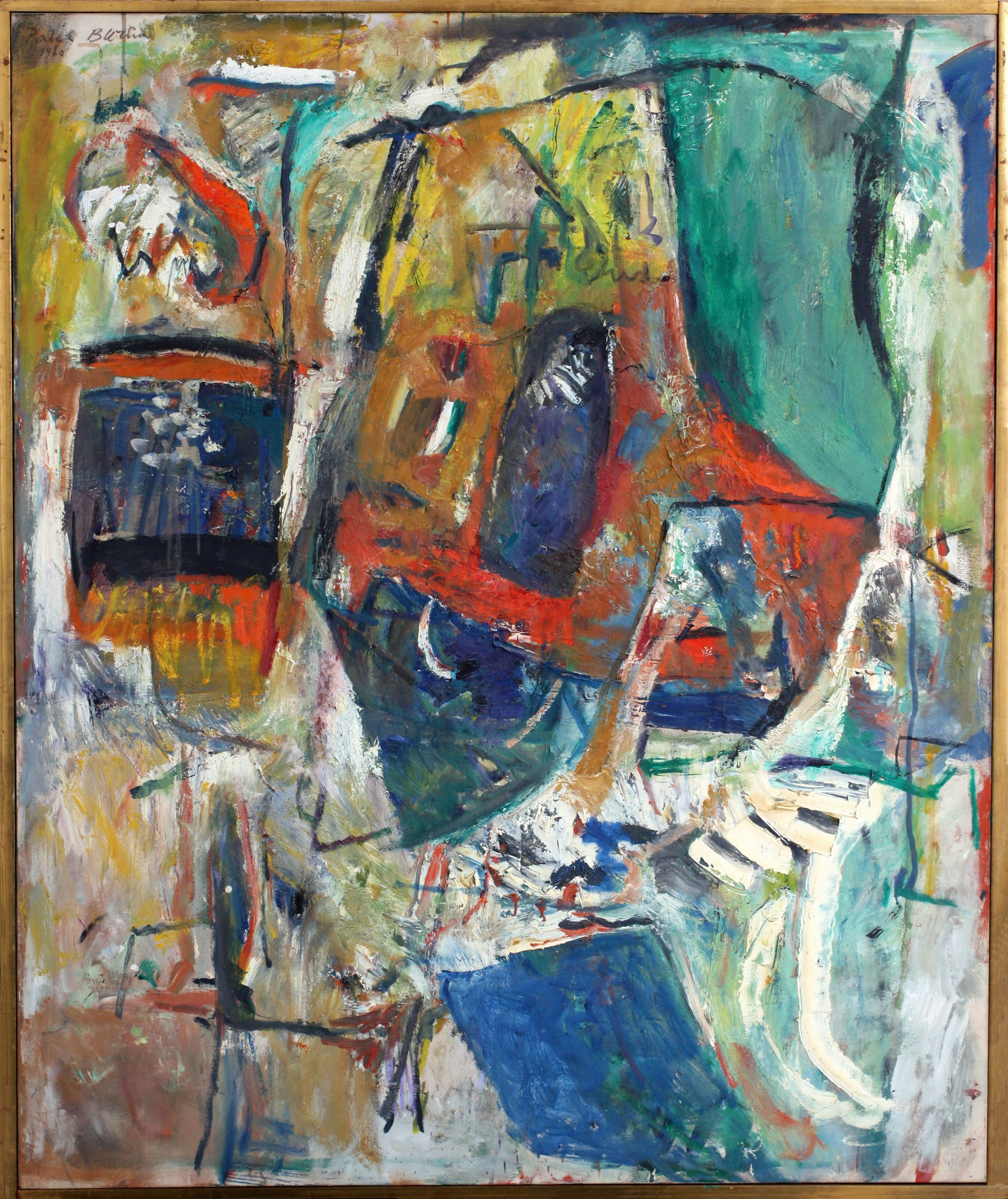 Untitled (Totem) 1960  , oil on canvas, 50 x 60 inches