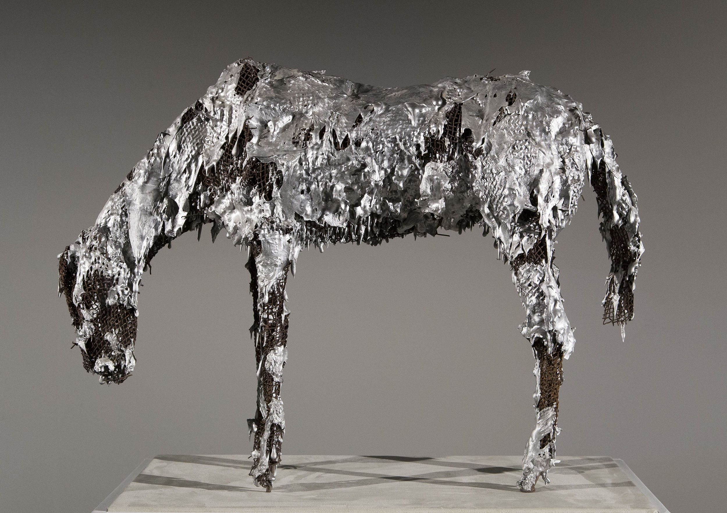 SOLD  Untitled (Horse),   Aluminum, steel wire, c. 1980, 22 h × 31 w × 8 d inches