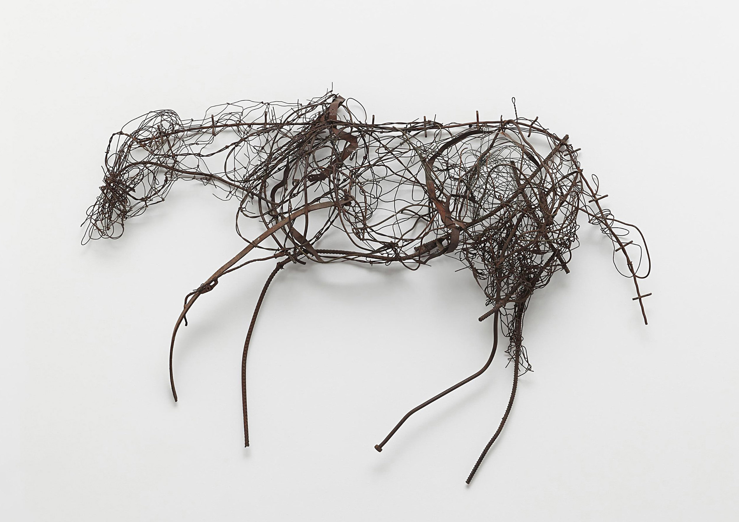 SOLD Calligraphy, 1986,   Barbed wire and metal, 36 x 54 x 11 inches