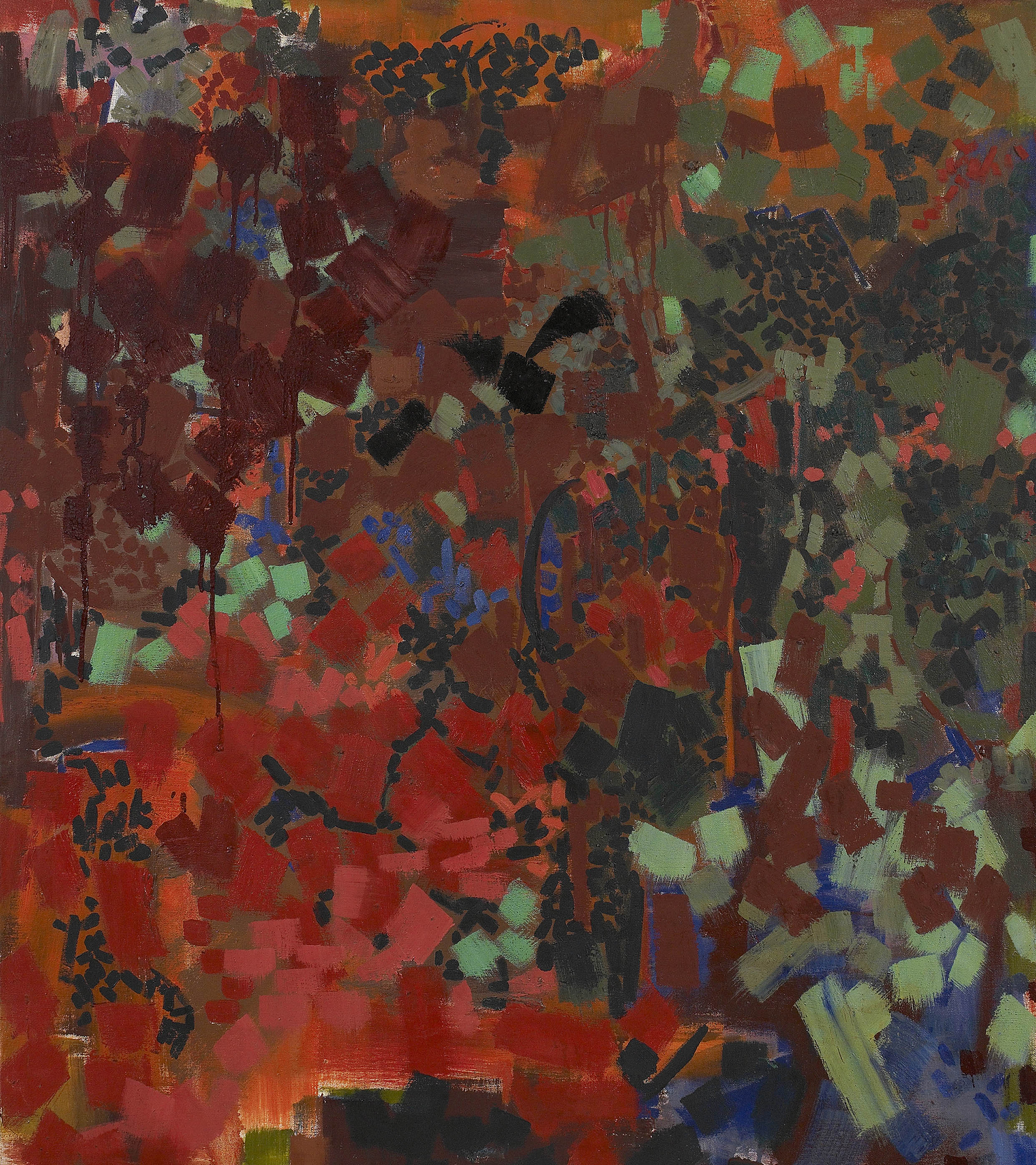 Frika 2,  1960, Oil on canvas, 42 x 36 inches