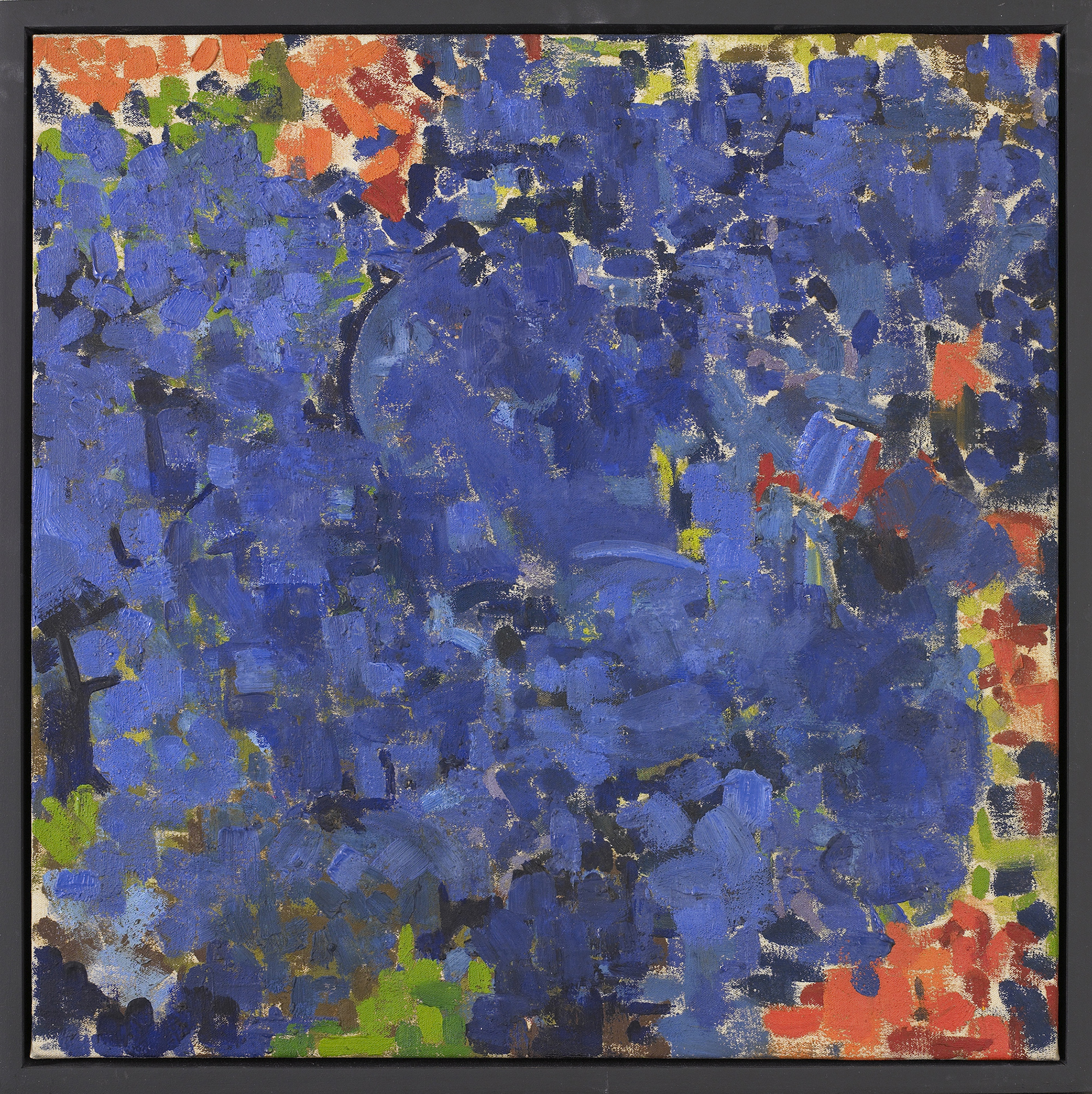 Blue 2 , 1960, Oil on canvas, 19 x 19 inches
