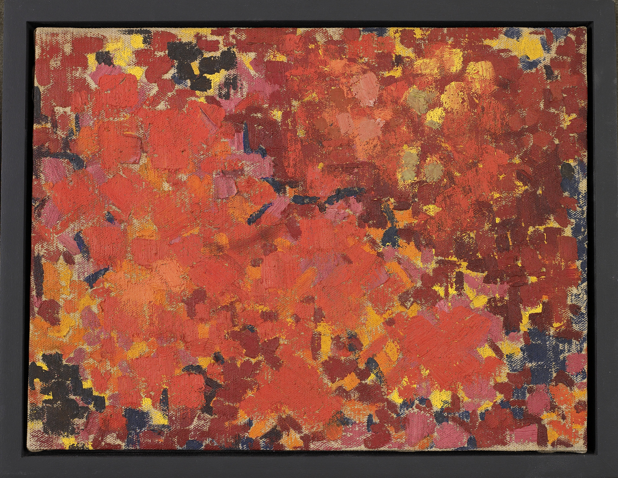 Matoaka Aflame , 1959,   Oil on canvas, 9 1/2 x 12 1/2 inches