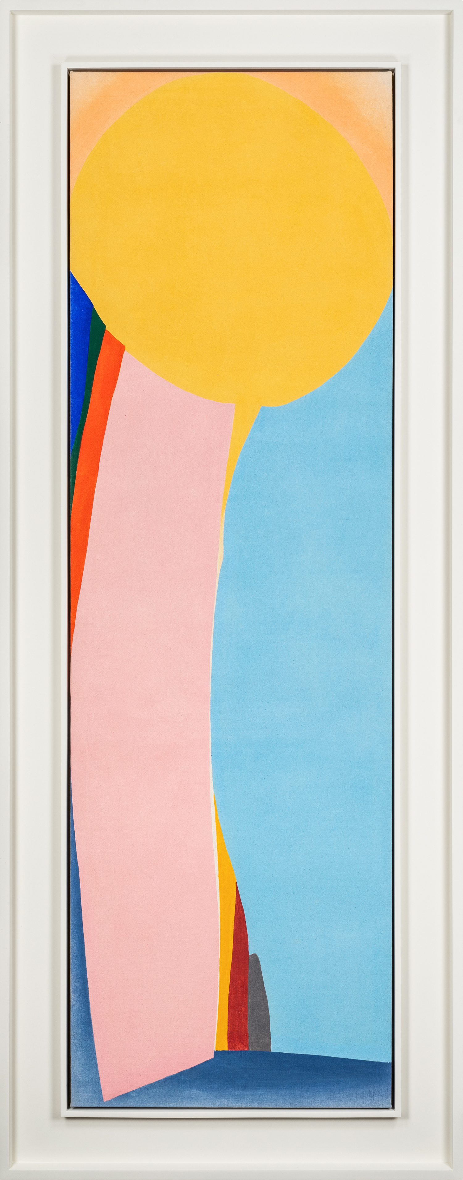 SOLD  Astral,   Acrylic on canvas, 1966, 71 x 22 inches