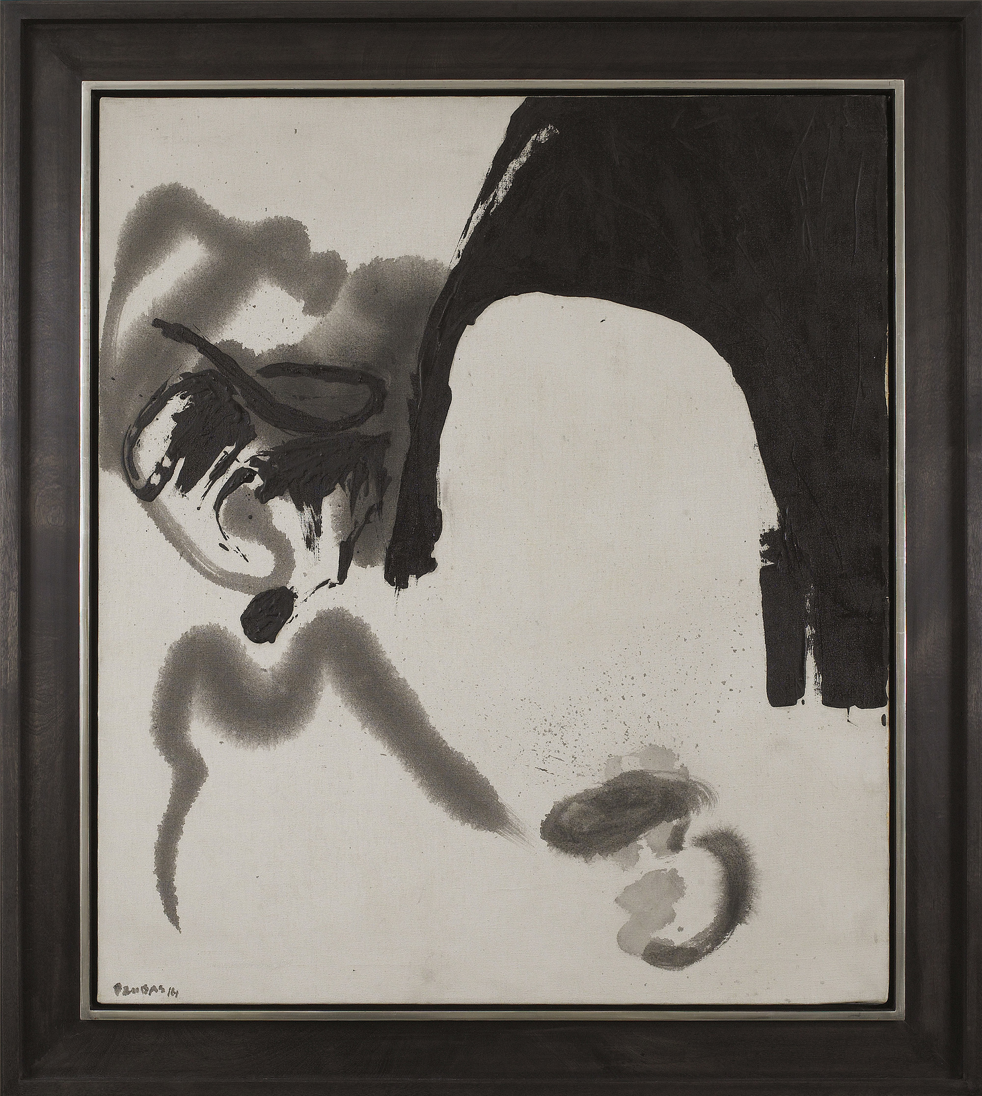 Terminal, 1961  , oil on canvas grisaille, 36 x 31 1/8 inches