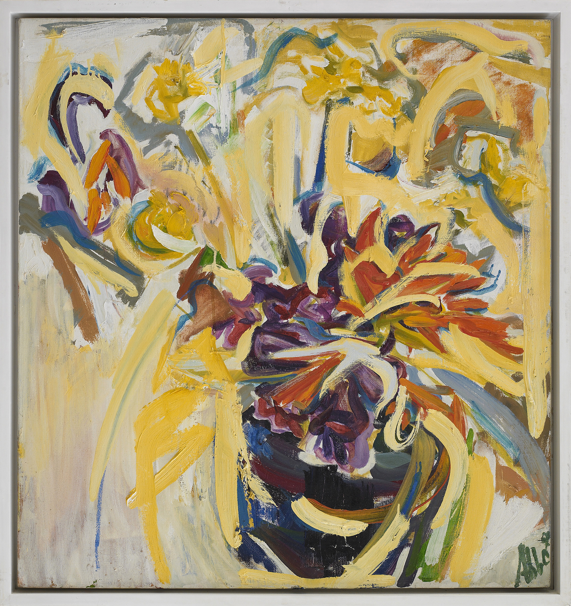 SOLD  Sudden Sun,   c. 1958 , oil on canvas, 30 x 28 inches