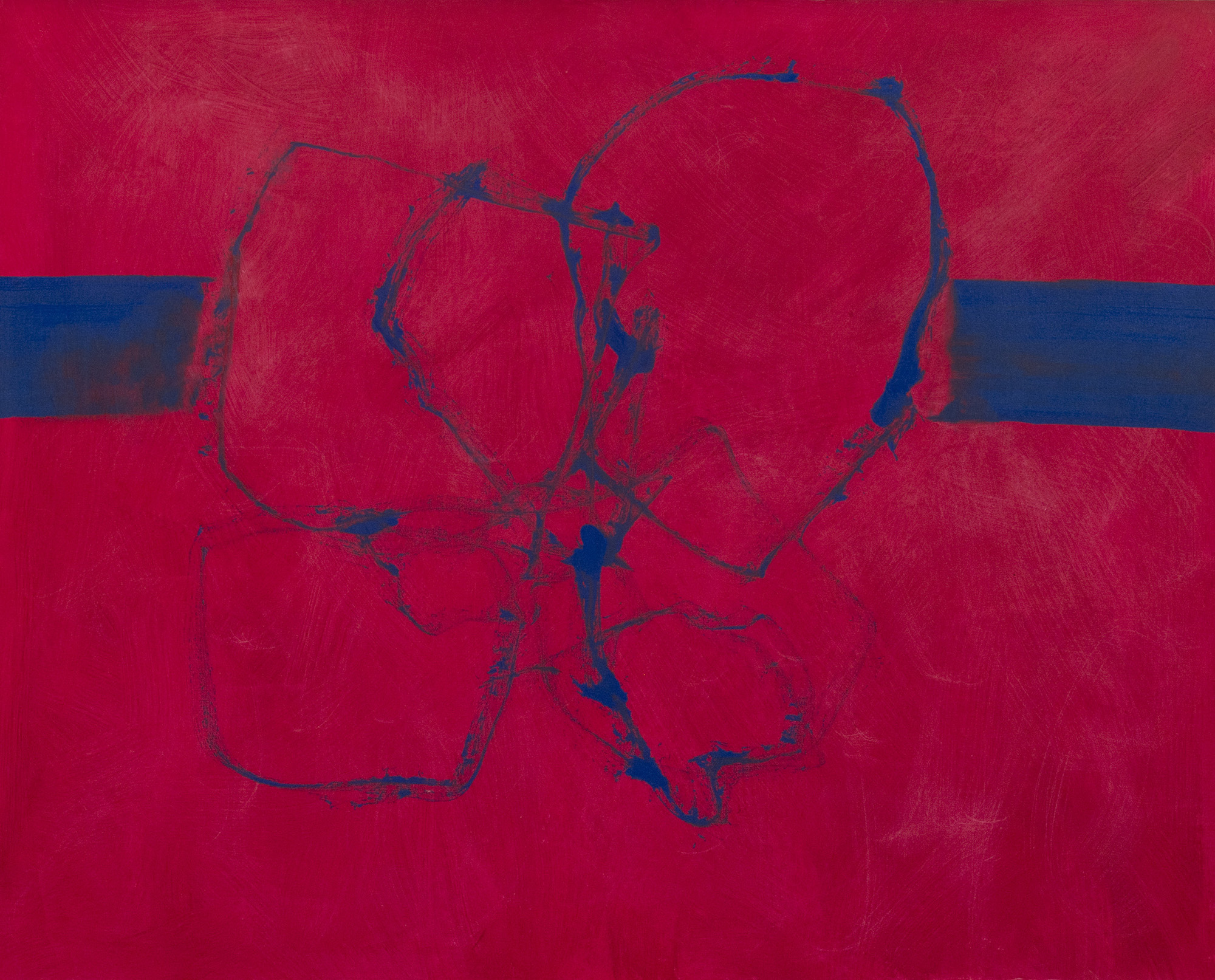 SOLD  Rope Dance in Red, 1989  , acrylic on canvas, 50 x 60 inches