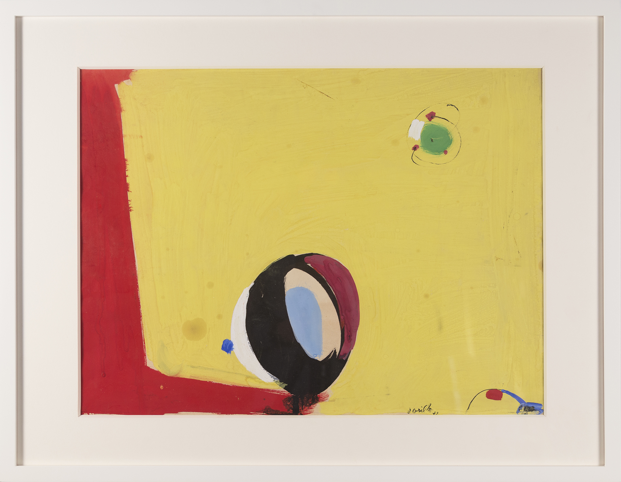 Untitled #69 , 1947, gouache on paper, 15 1/2 x 20 3/4 inches
