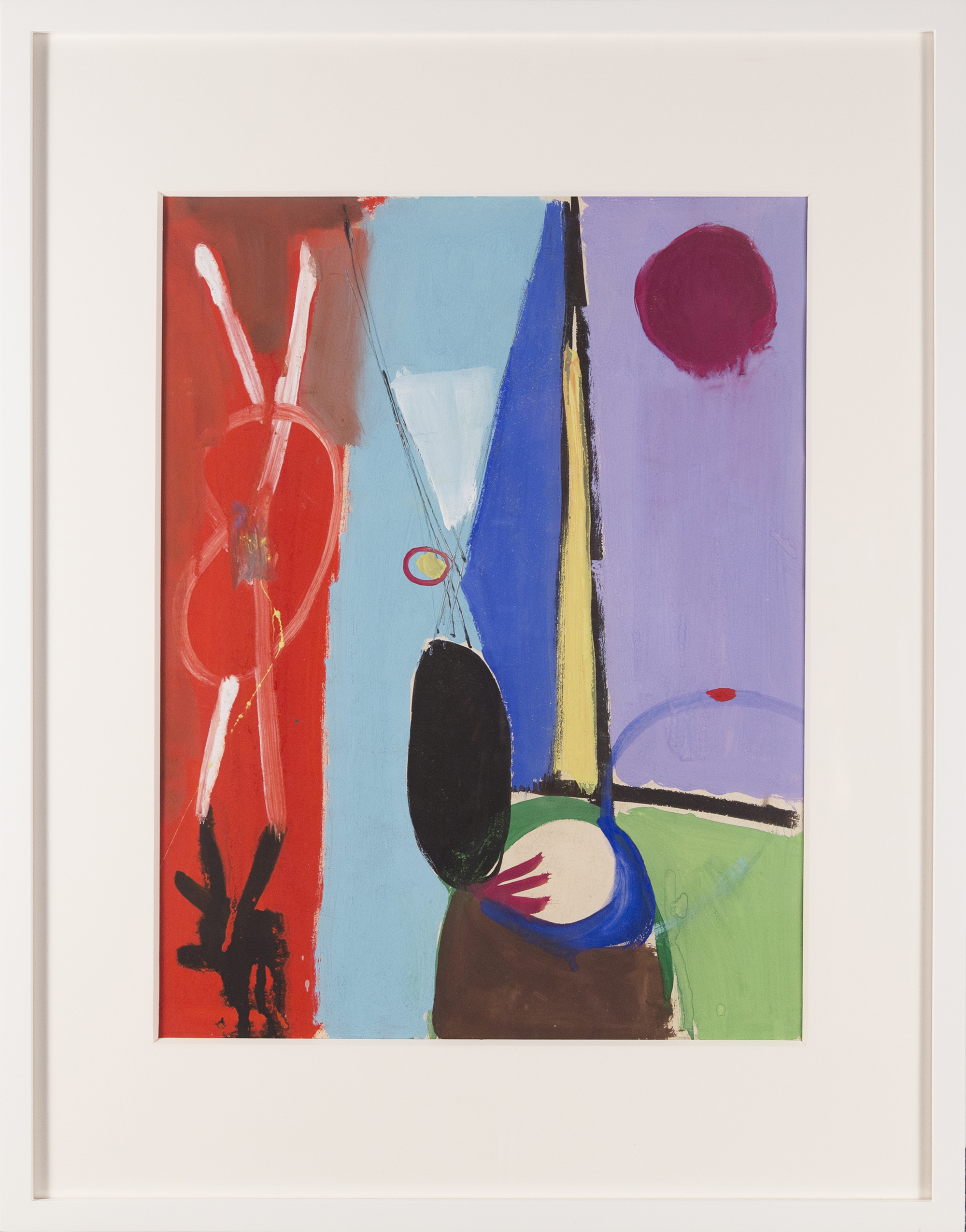 SOLD  Untitled #71  , c. 1947, gouache on paper, 19 x 14 1/2 inches