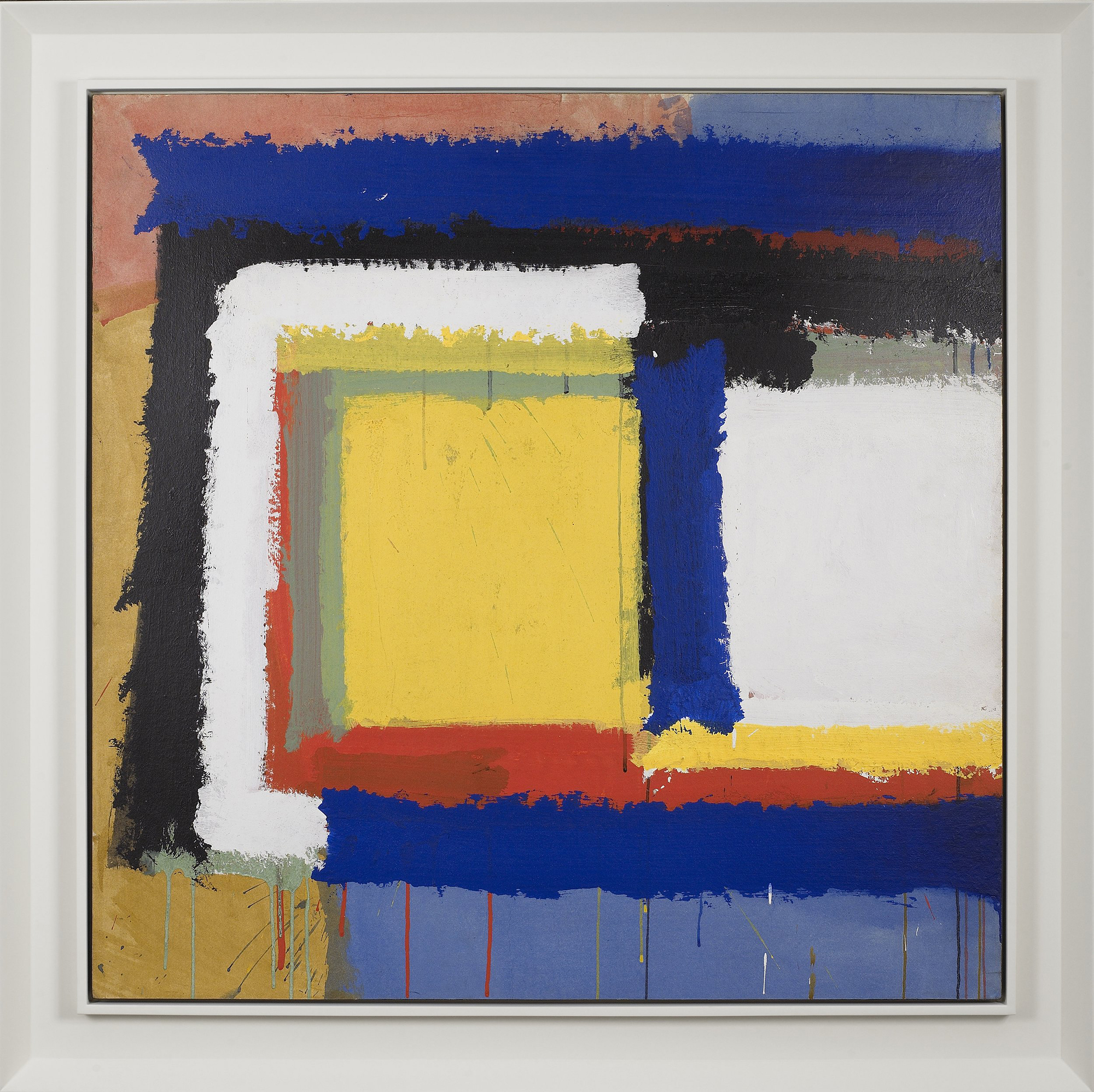 "SOLD  Untitled ""L"",   Acrylic on paper on board, 1960, 37 1/2 x 37 1/2 inches"