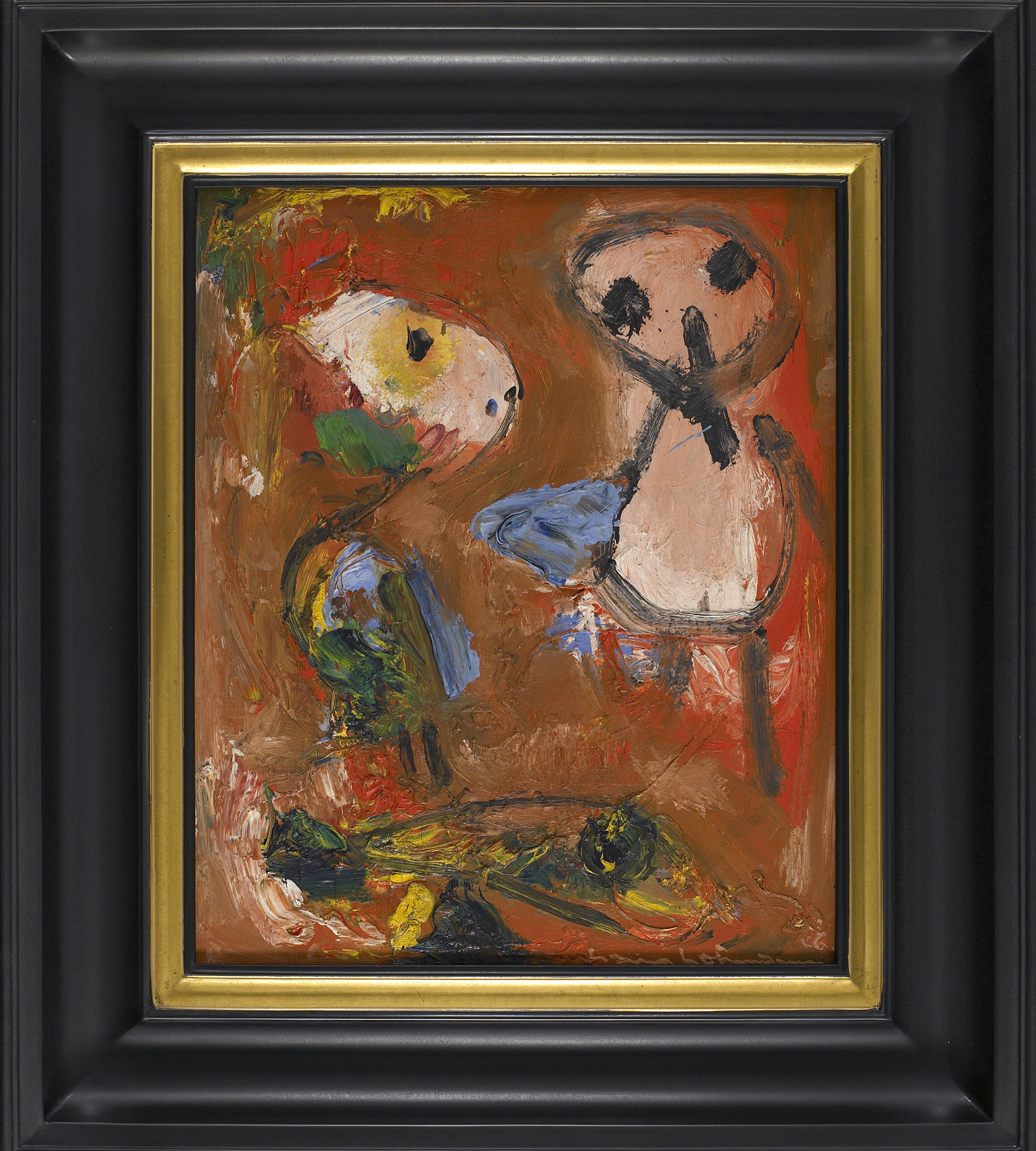 SOLD  The Heinzelman   ,  Oil on plywood, 1946, 20 x 16 inches