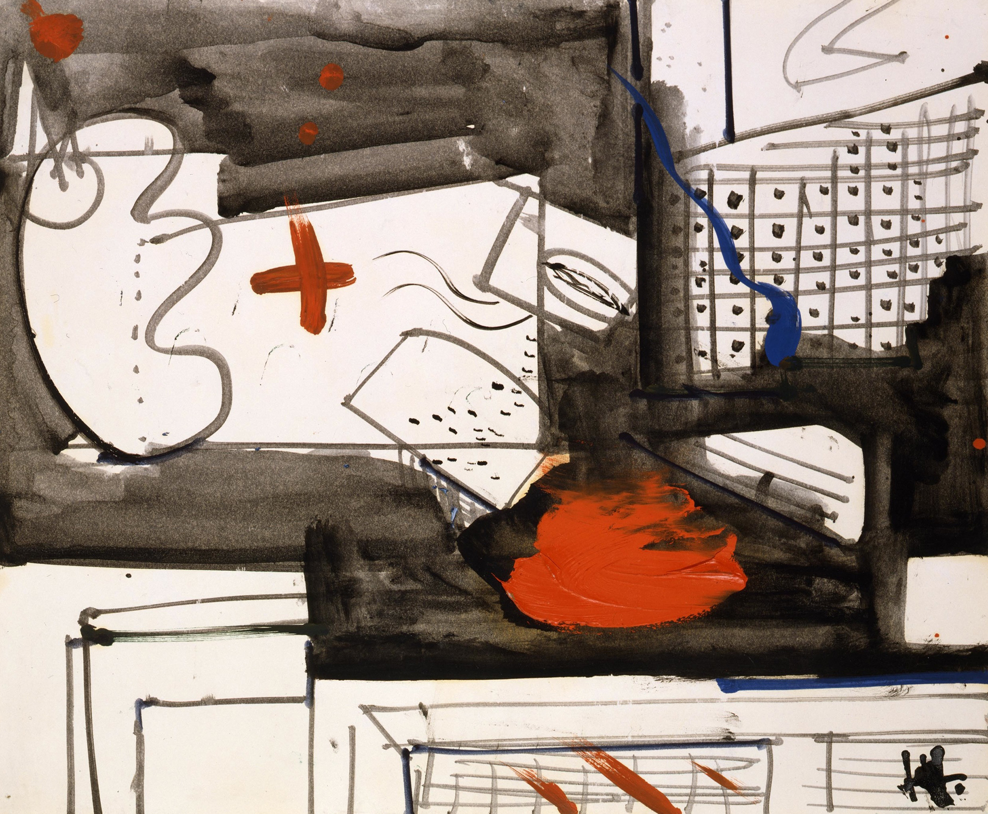 SOLD  Untitled, 1949  , gouache and oil on paper, 14 x 17 inches