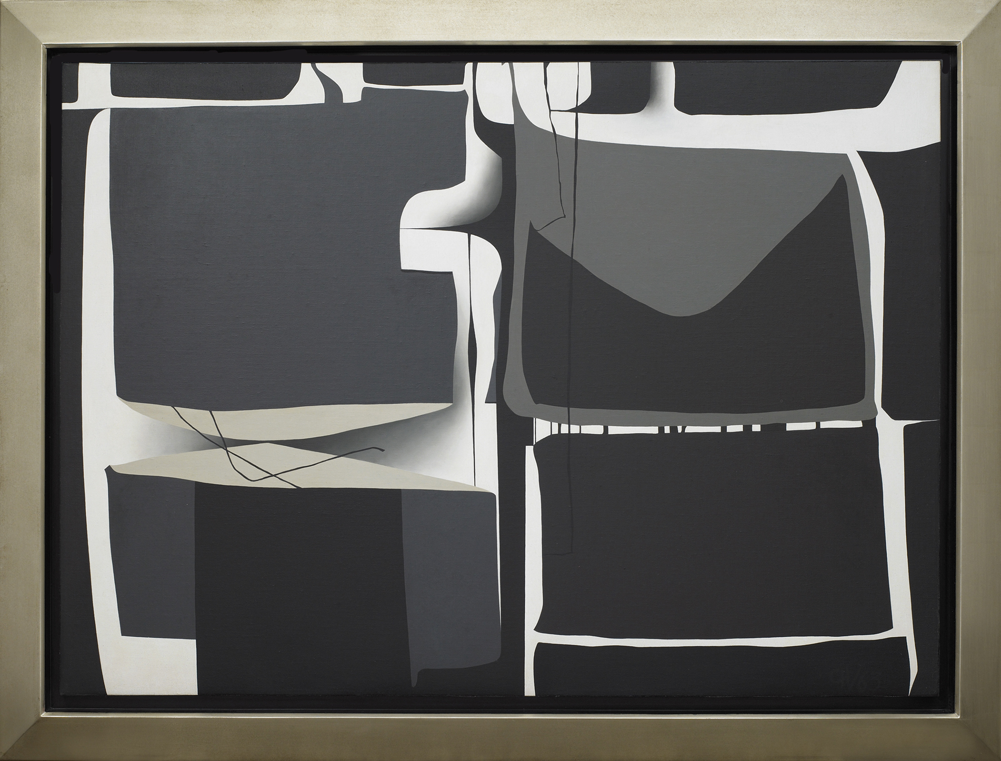 Painting-1963 (II),   Oil on canvas, 1963, 33 x 45 ¾ inches