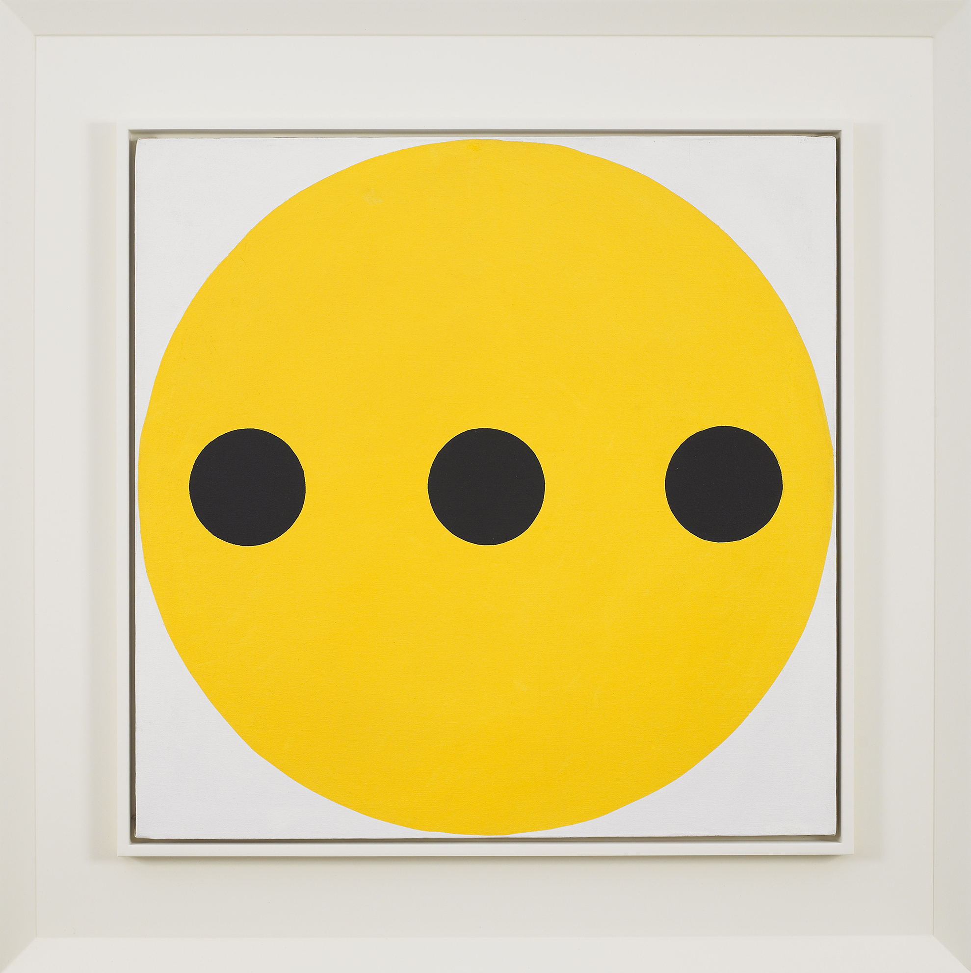 Black-Yellow,   Oil on canvas, 1962, 24 x 24 inches