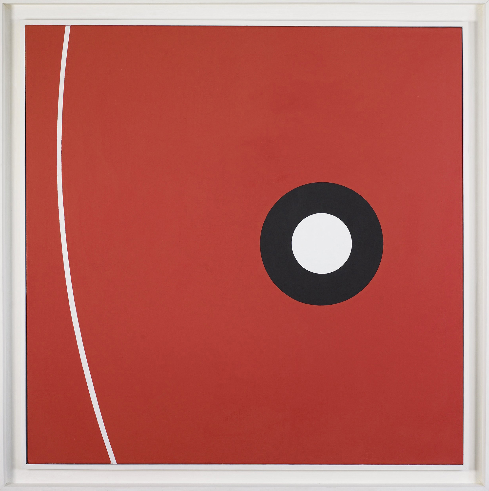 SOLD  Alpha Omega  , Oil on canvas, 1962, 36 x 36 inches