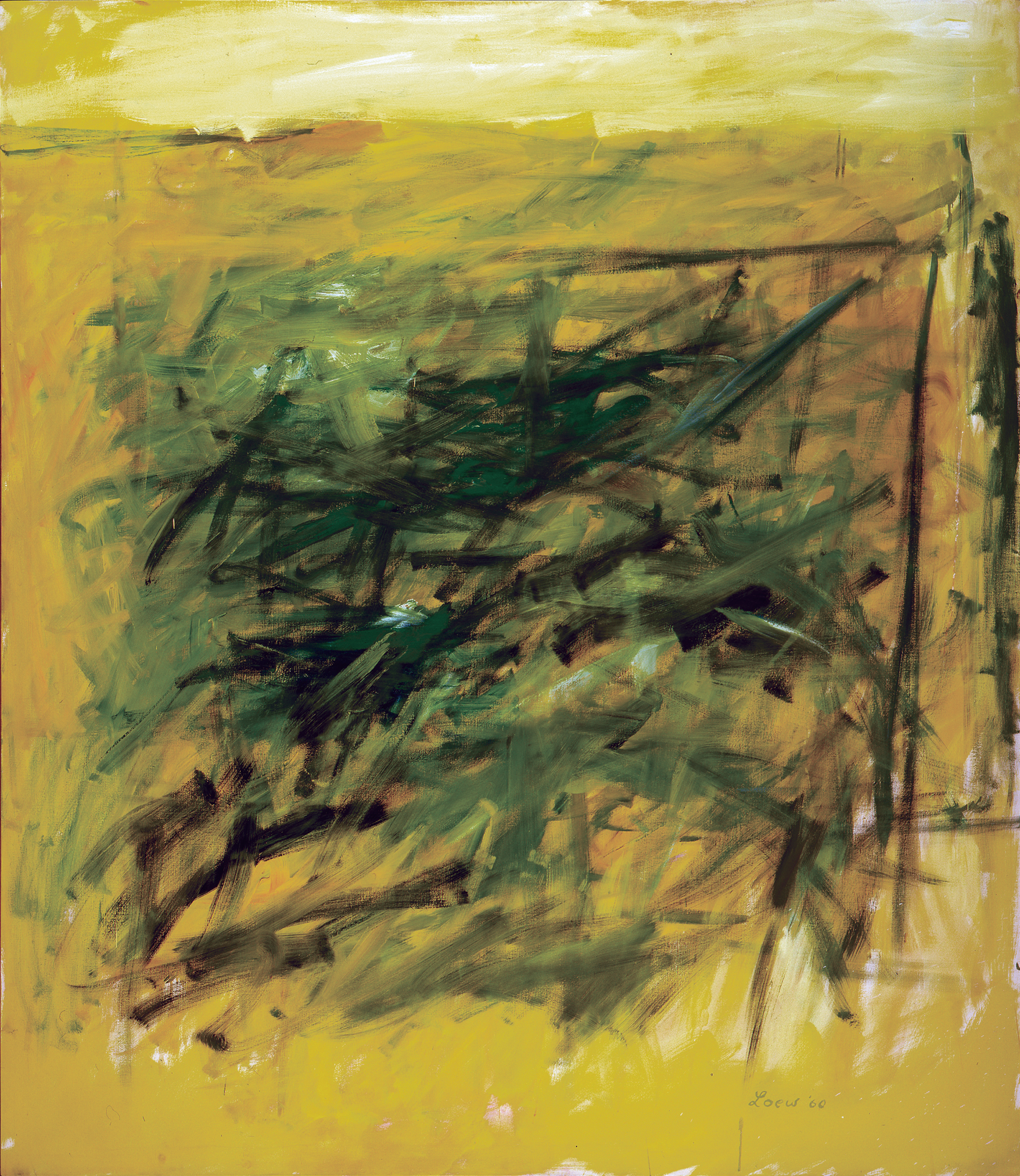 I Want You Green, 1960, oil on canvas, 75 1/4 x 66 inches